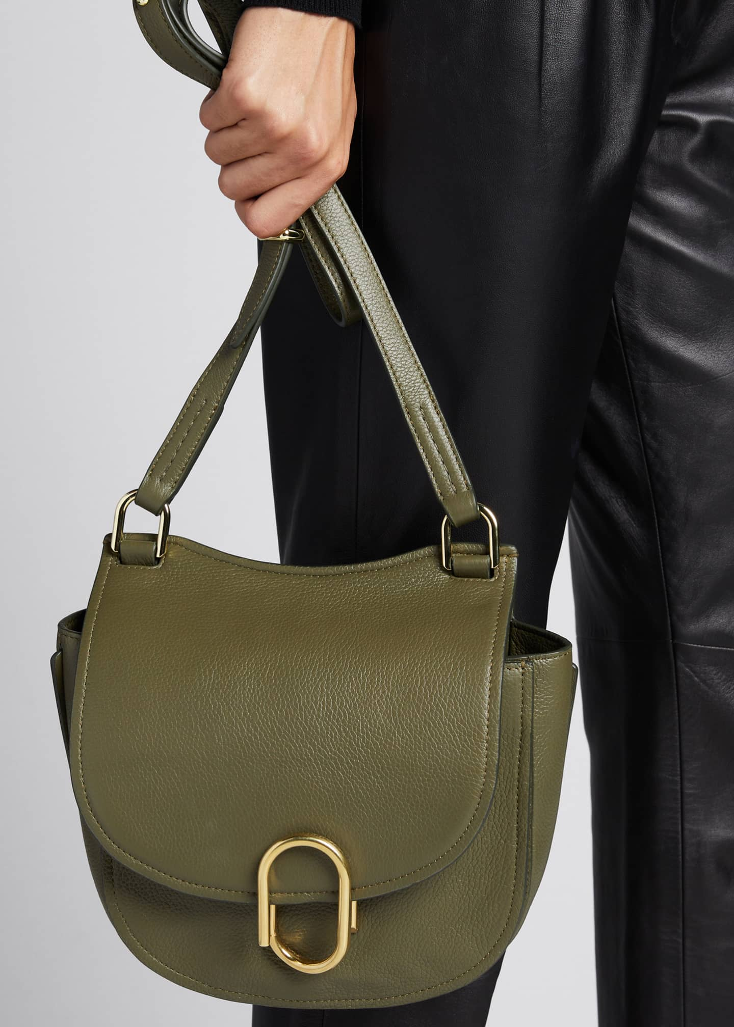 Image 2 of 5: Alix Hunter Leather Shoulder Bag