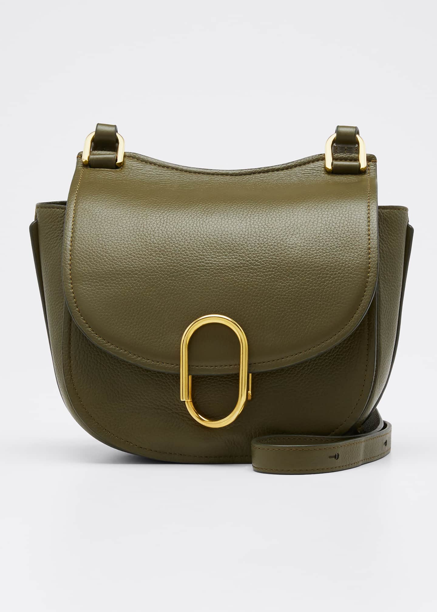 Image 1 of 5: Alix Hunter Leather Shoulder Bag