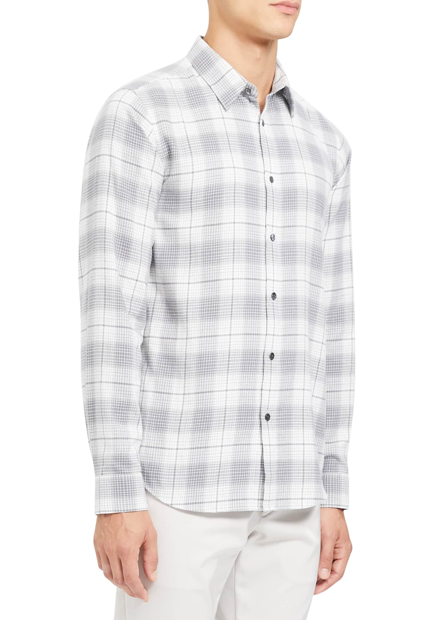Image 2 of 3: Men's Irving Flannel Cotton Sport Shirt