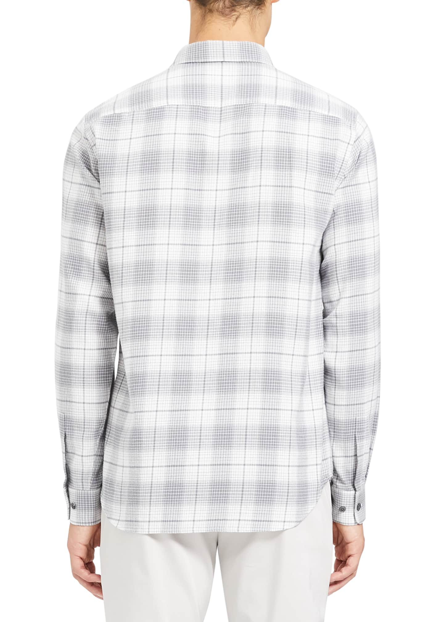 Image 3 of 3: Men's Irving Flannel Cotton Sport Shirt