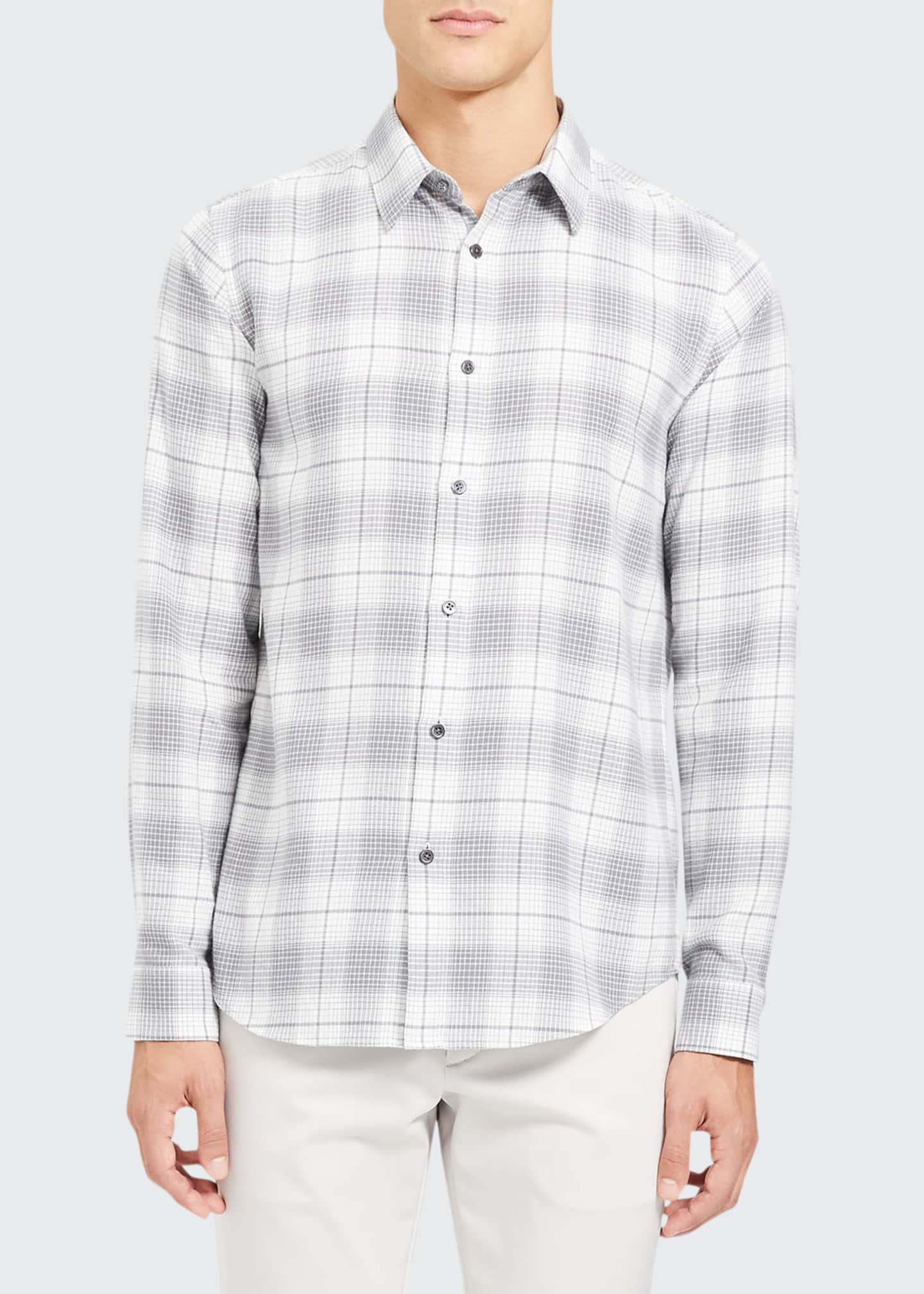 Image 1 of 3: Men's Irving Flannel Cotton Sport Shirt