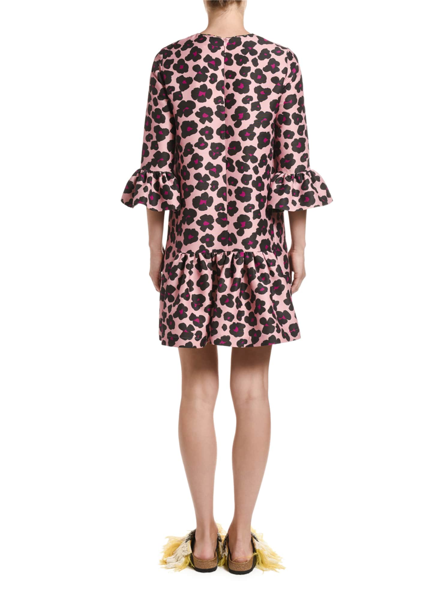 Image 2 of 2: 24/7 Animal-Print Cady Dress