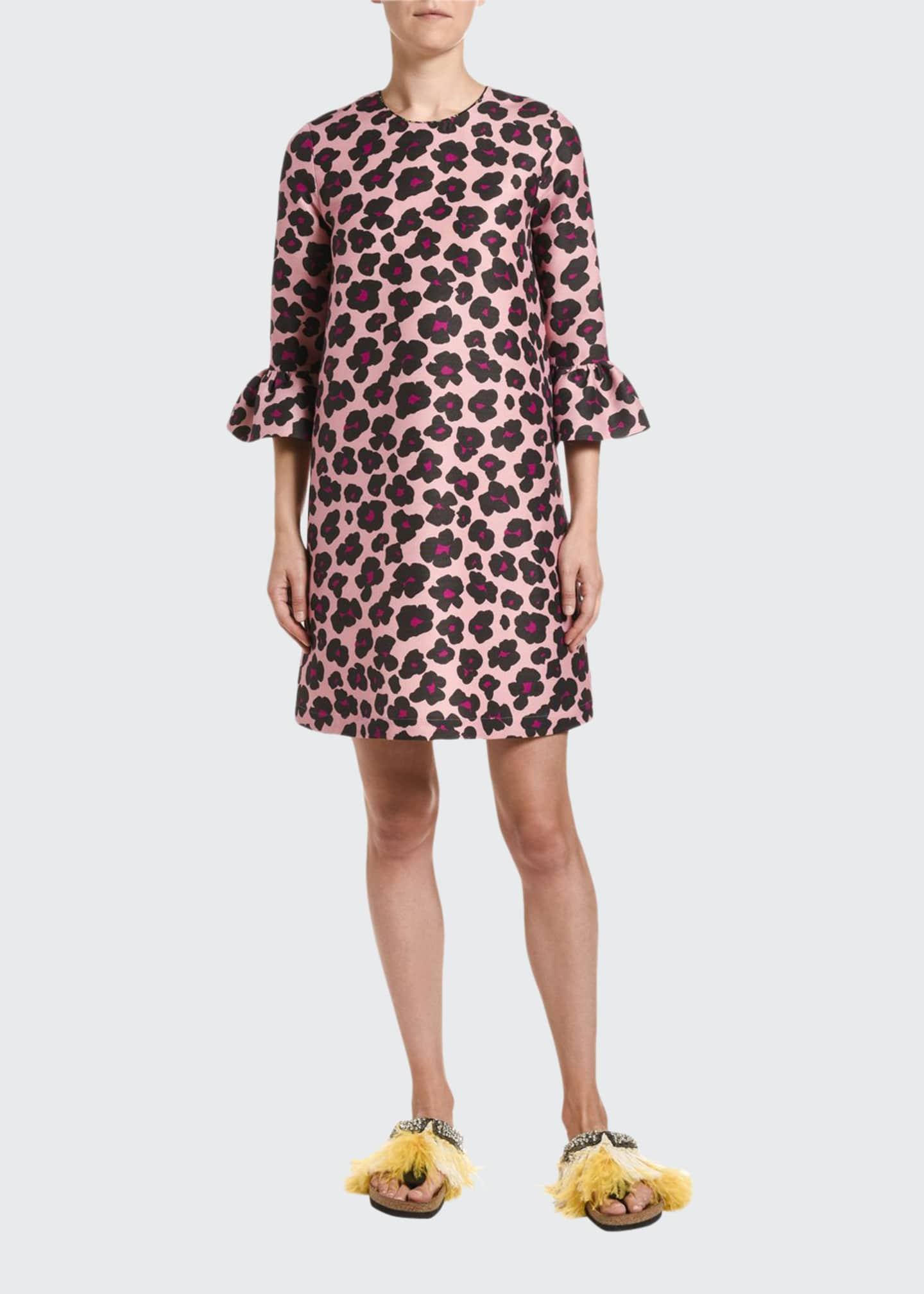 Double J 24/7 Animal-Print Cady Dress