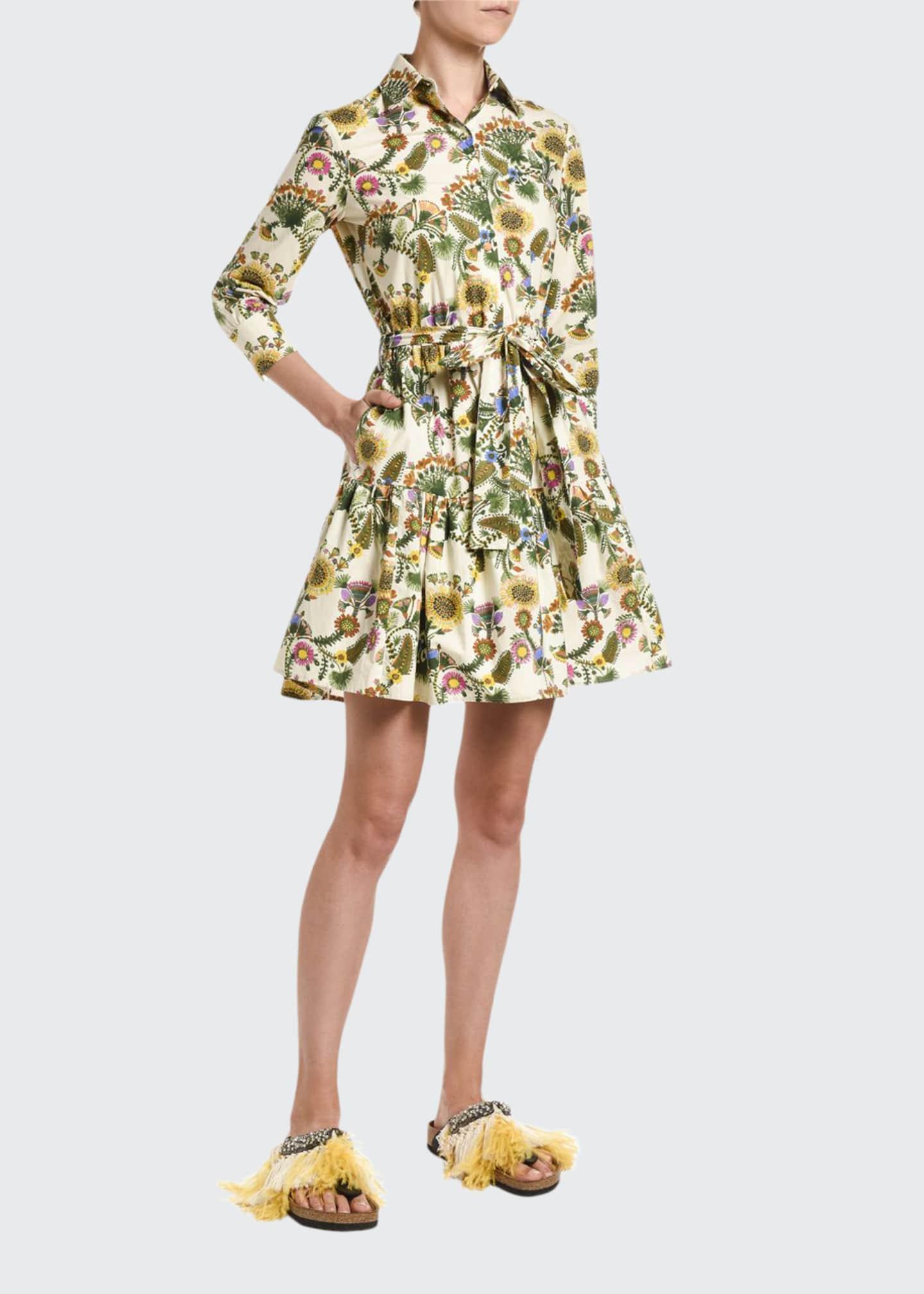 Double J Short Bellini Floral-Print Dress