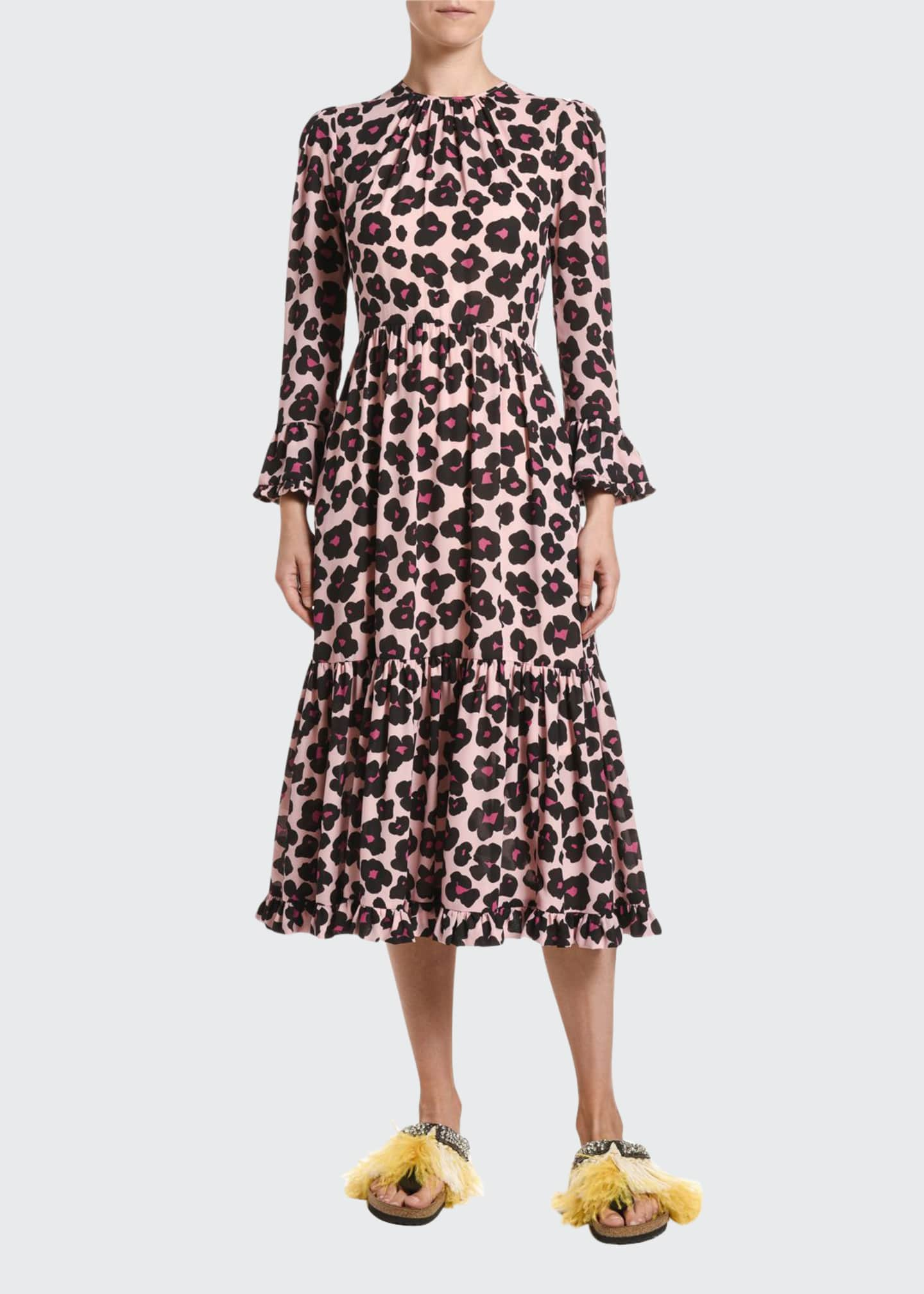 Double J Visconti Animal-Print Crepe Midi Dress