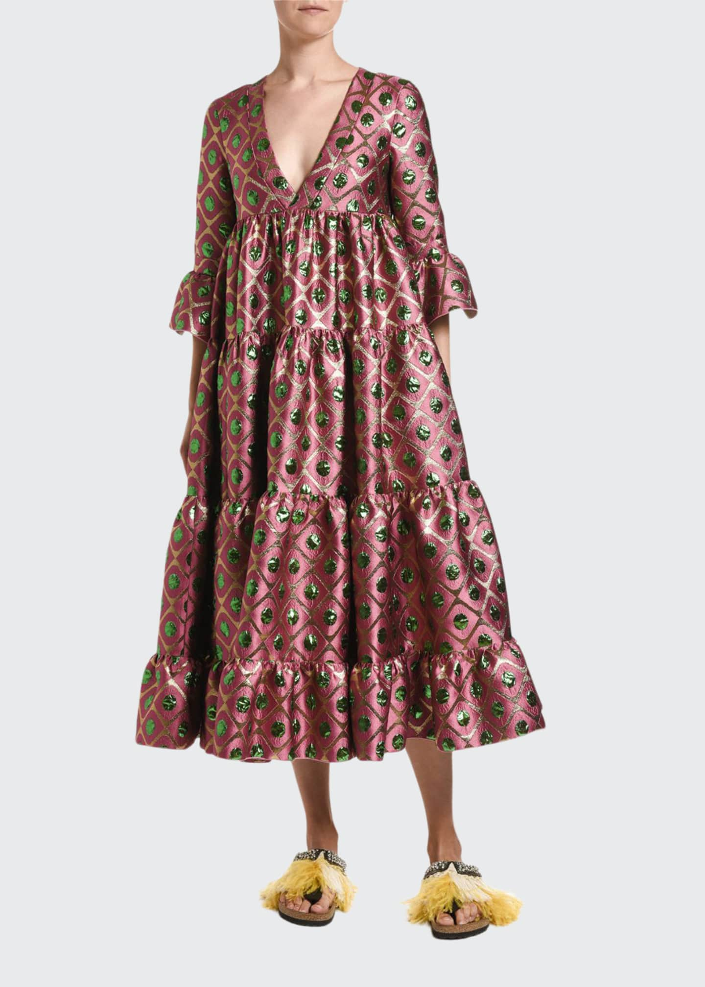 Double J Jennifer Jane Brocade Dress