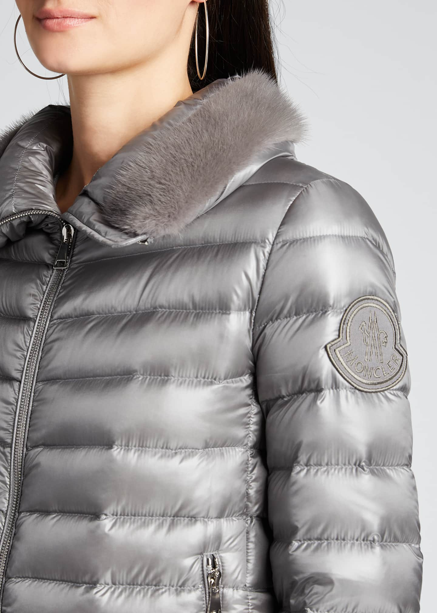 Image 4 of 5: Soufre Long Puffer Coat