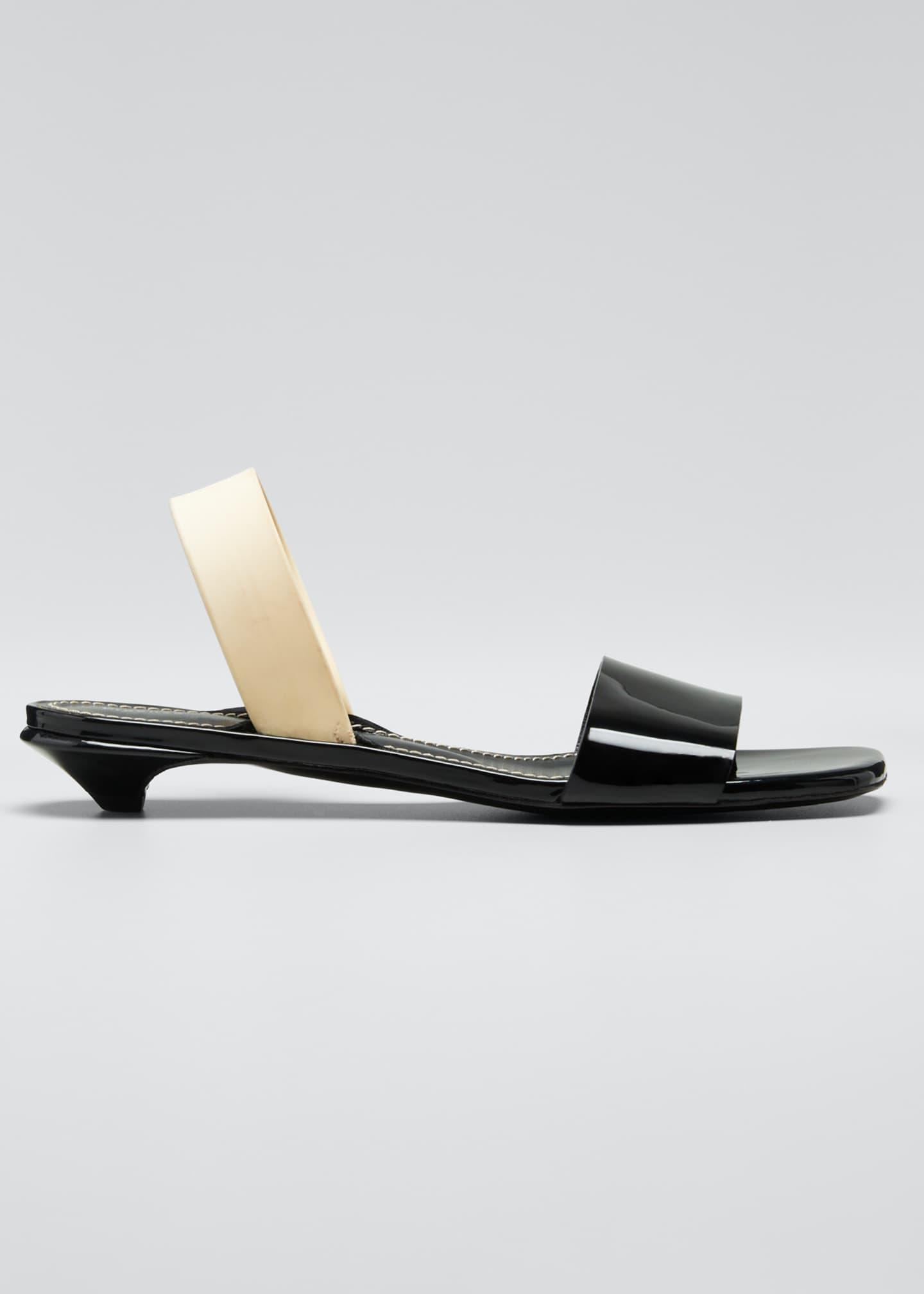 Proenza Schouler Tic Kitten-Heel Slide Sandals