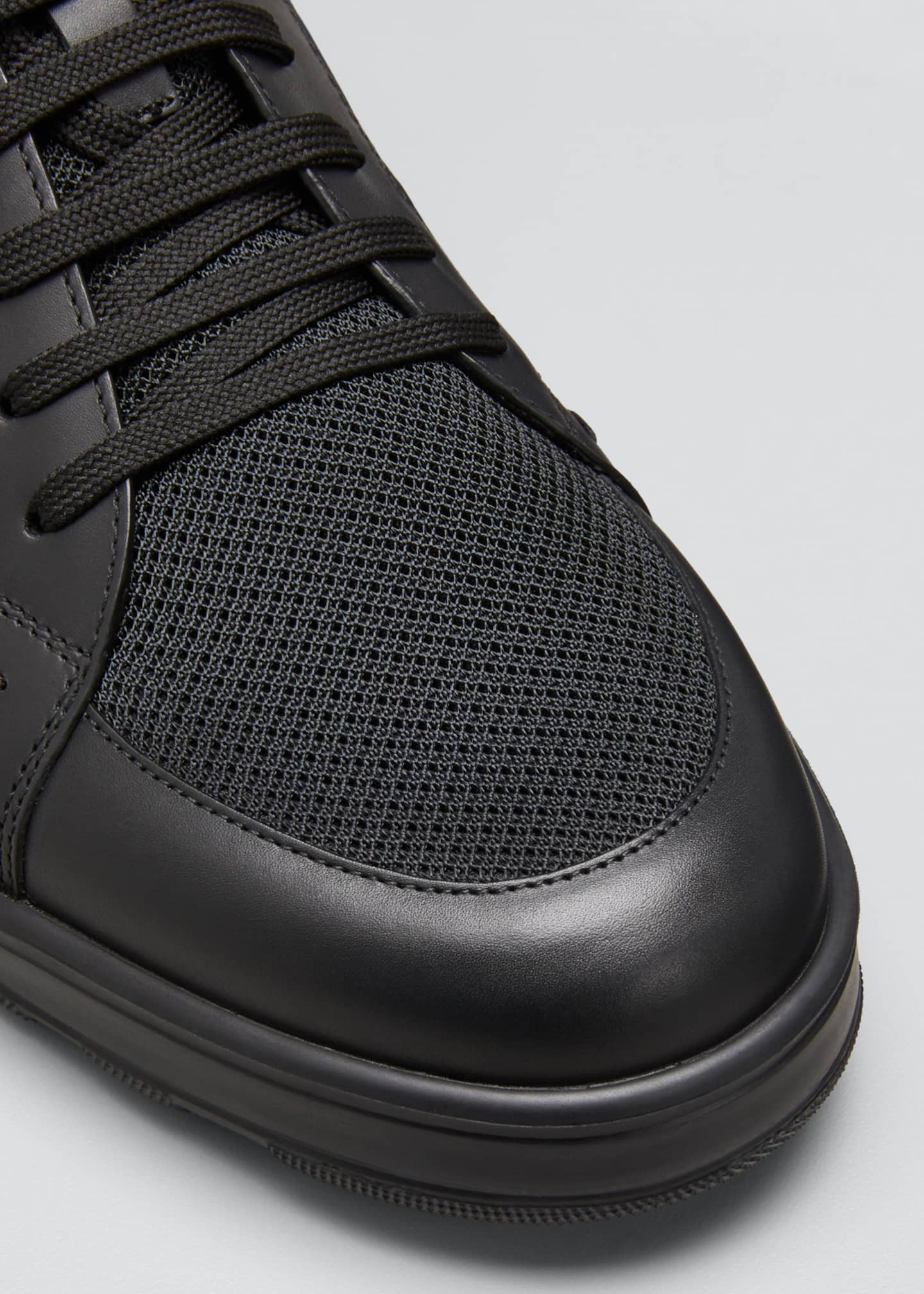 Image 5 of 5: Men's High-Top FF Leather Platform Sneakers