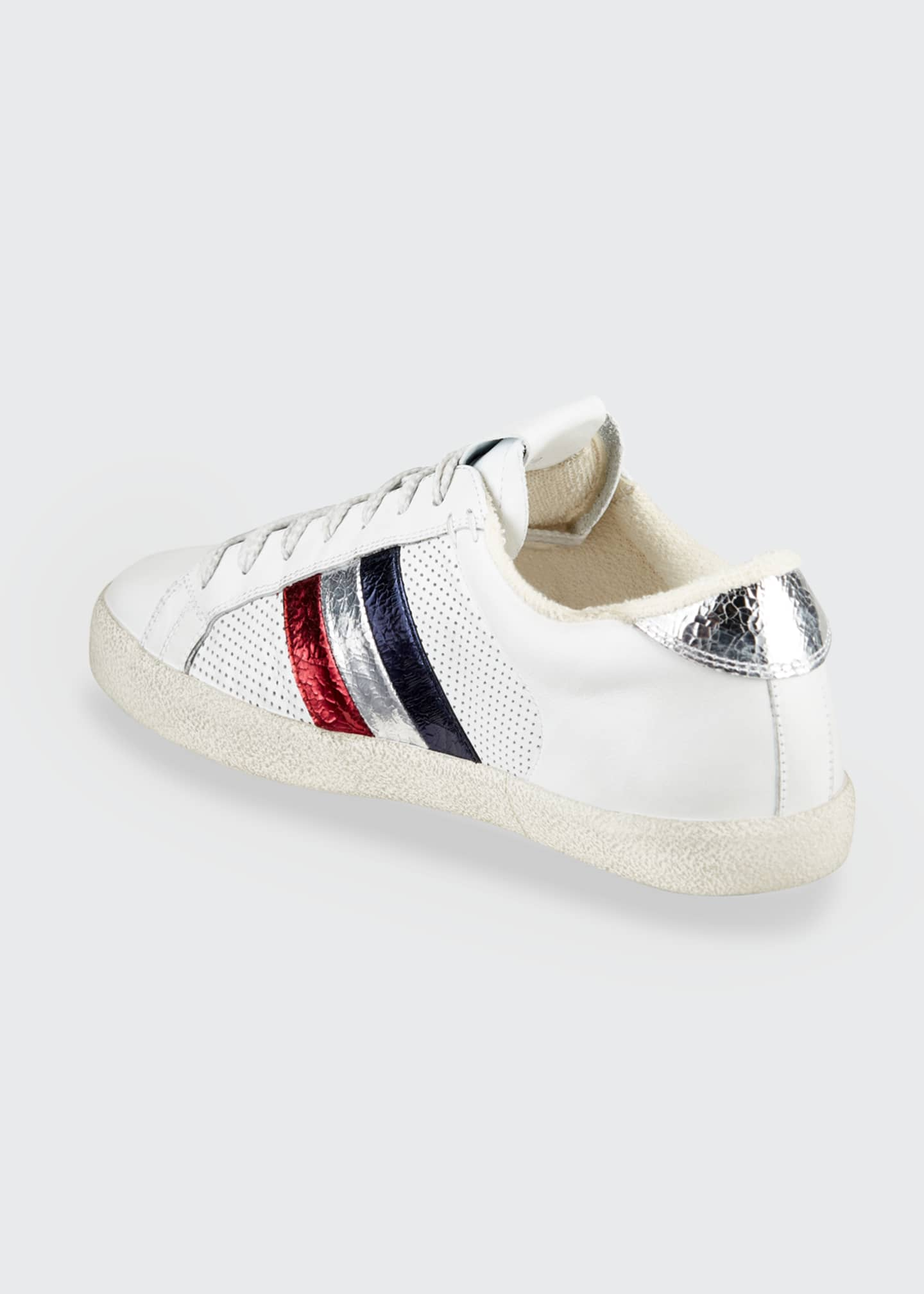 Image 2 of 3: Ryegrass Leather Logo Stripe Sneakers