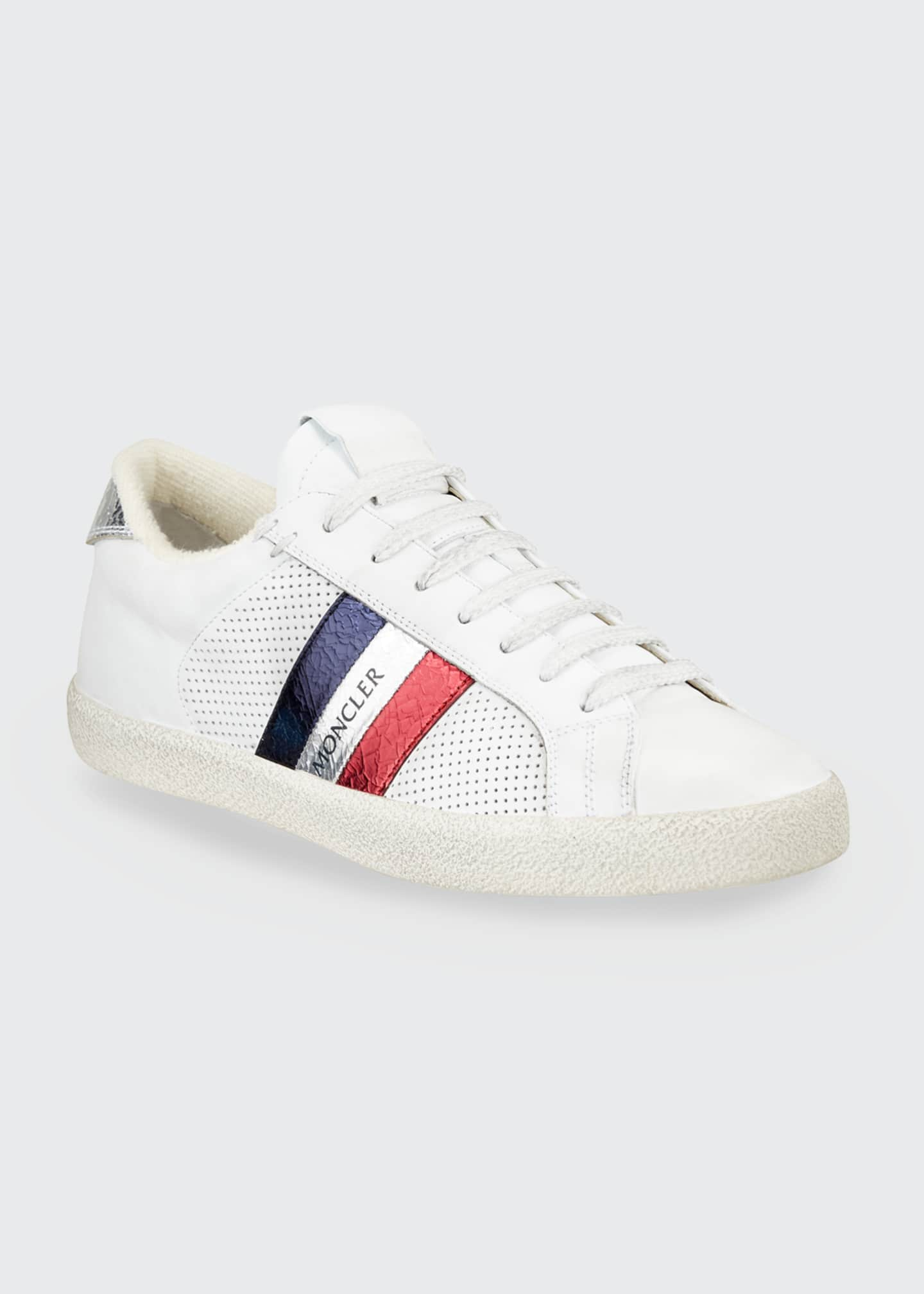 Image 1 of 3: Ryegrass Leather Logo Stripe Sneakers