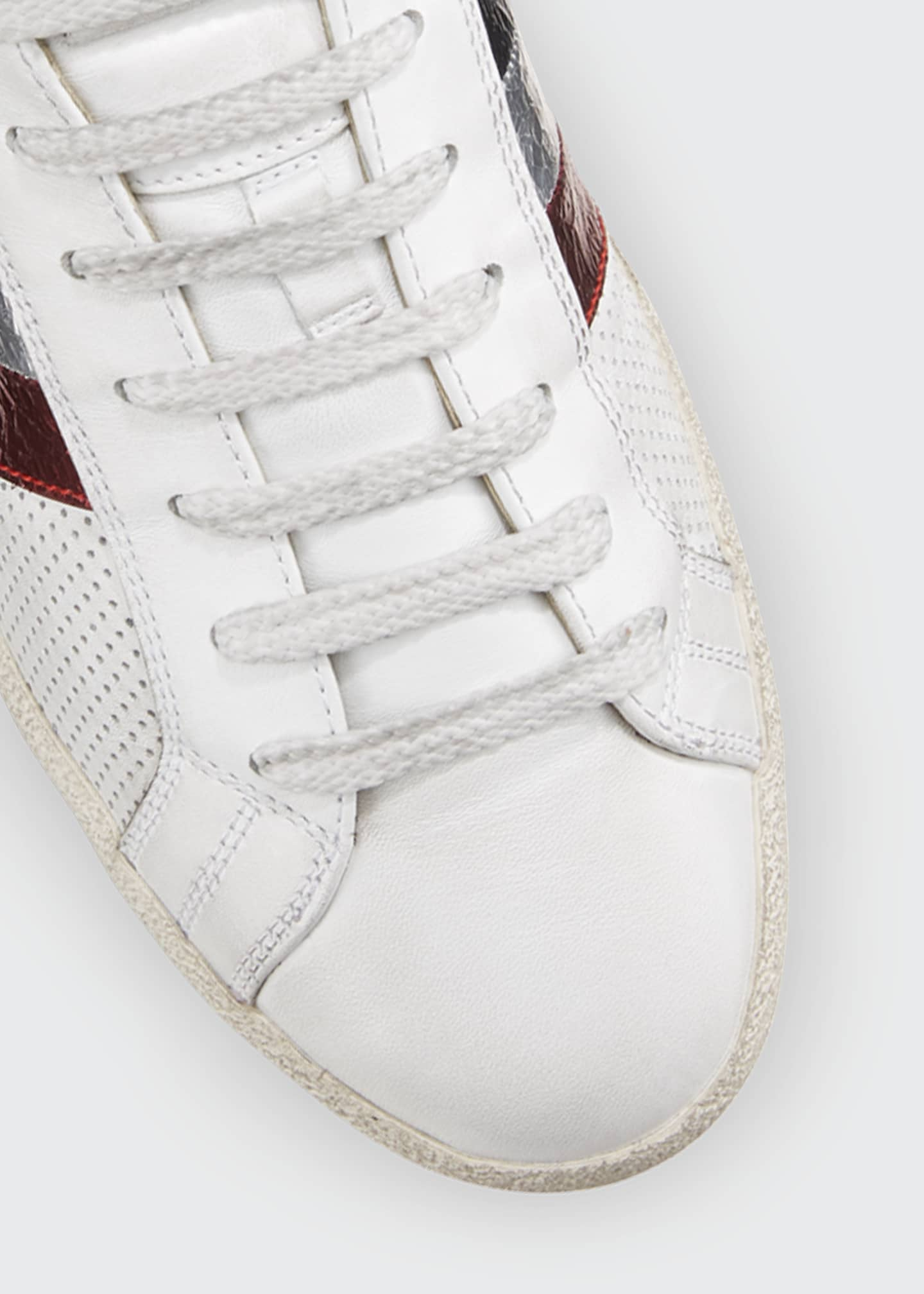 Image 3 of 3: Ryegrass Leather Logo Stripe Sneakers