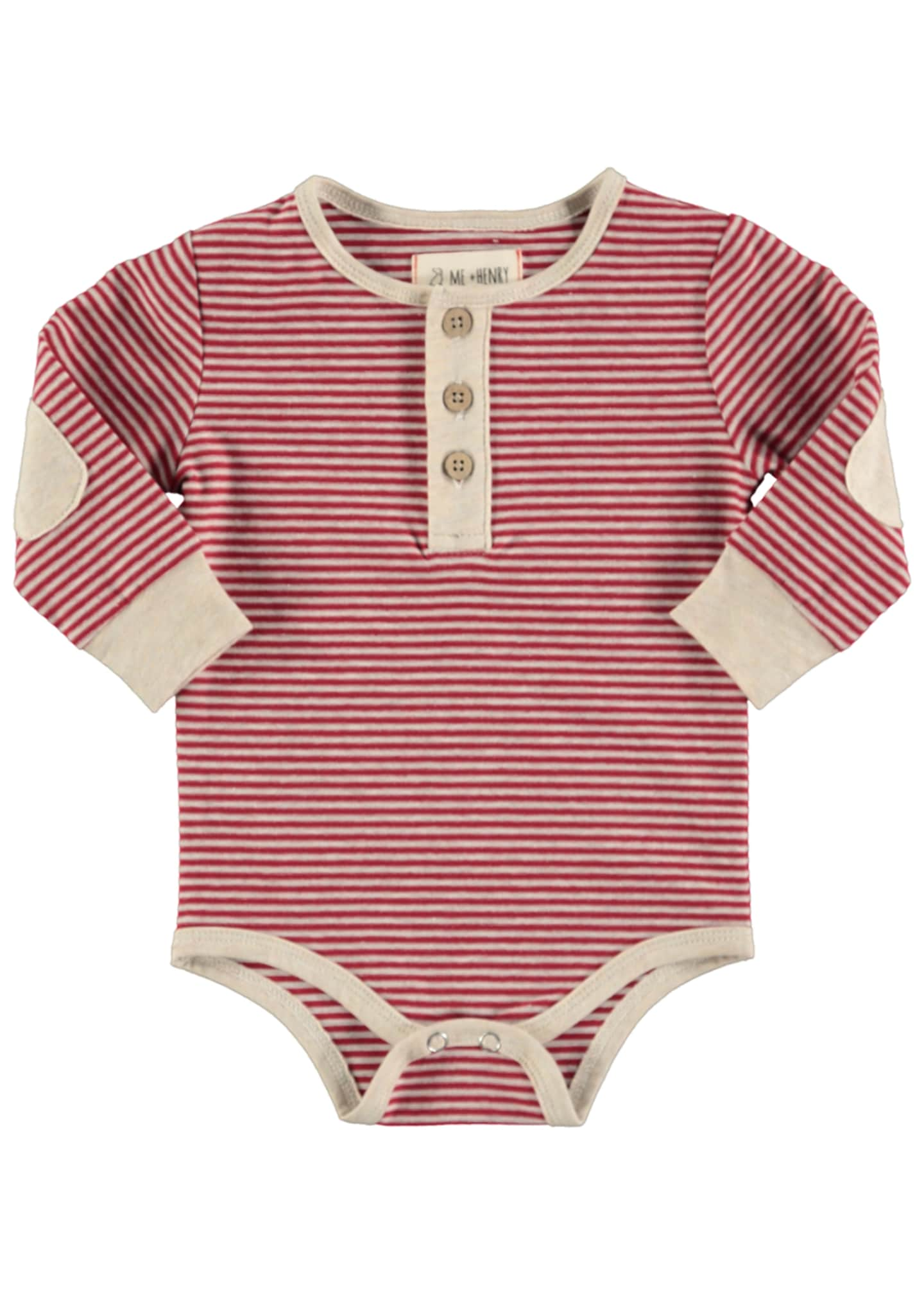 Me & Henry Striped Henley Bodysuit w/ Children's