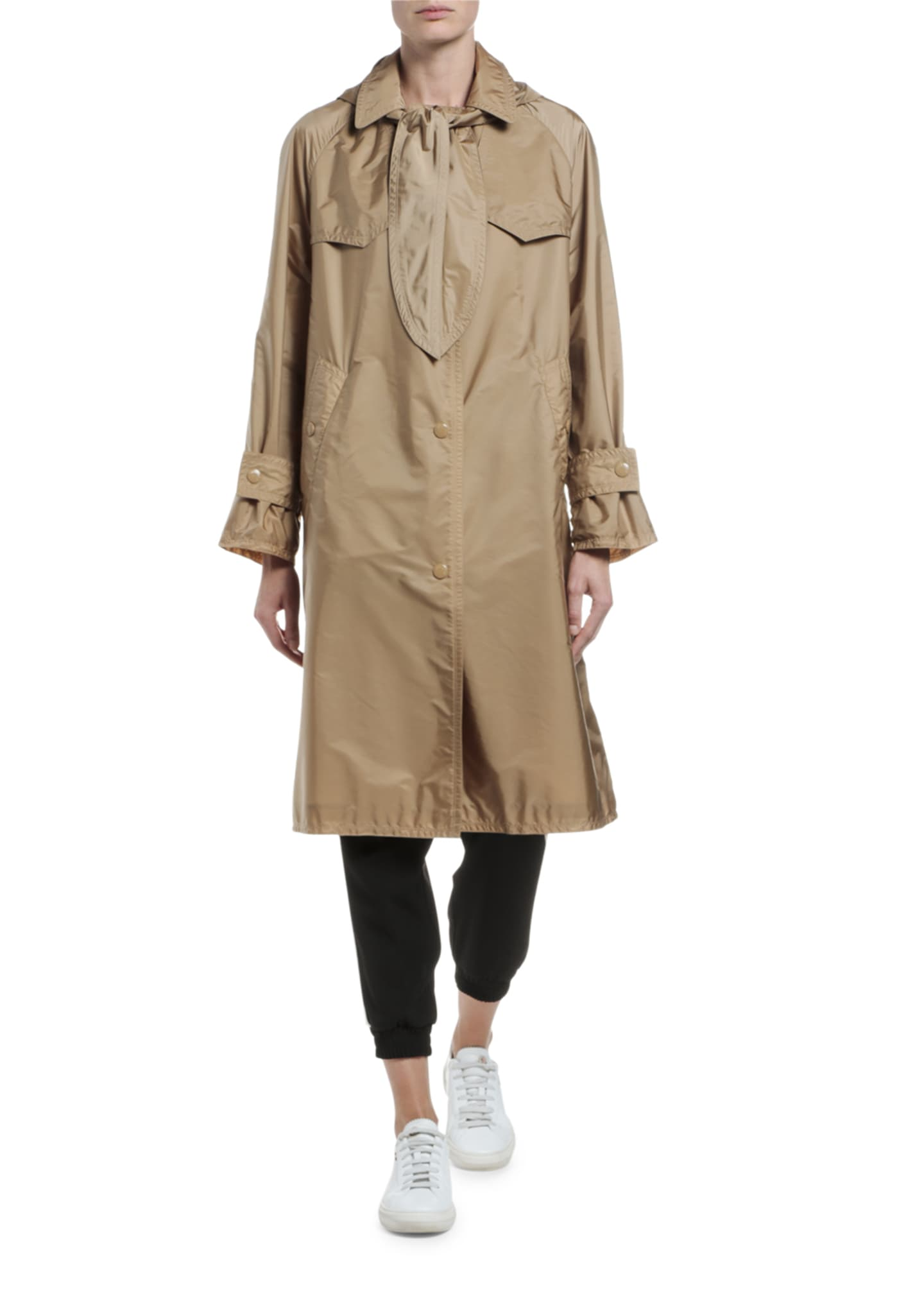 Image 3 of 4: Vanille Long Raincoat