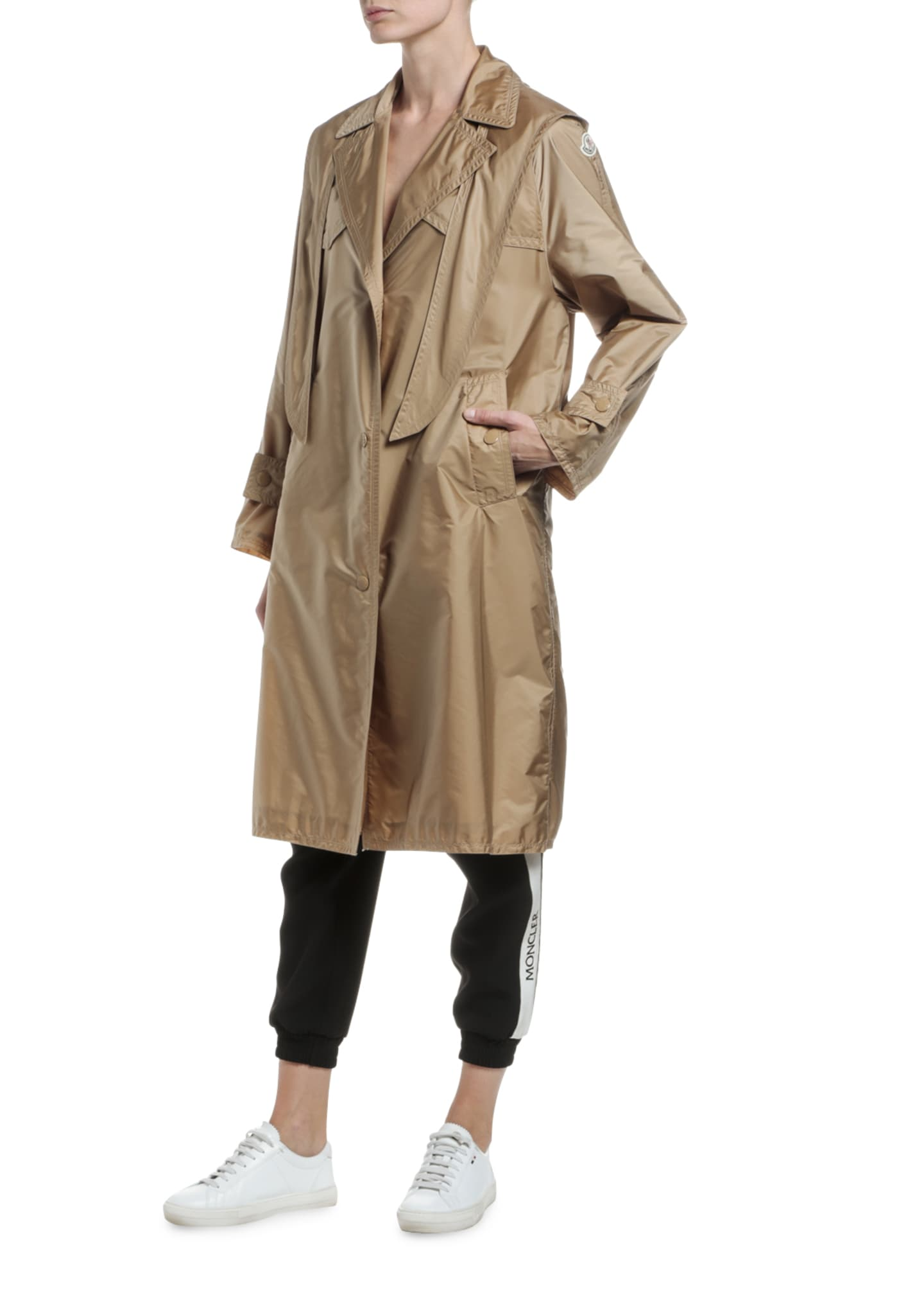 Image 4 of 4: Vanille Long Raincoat