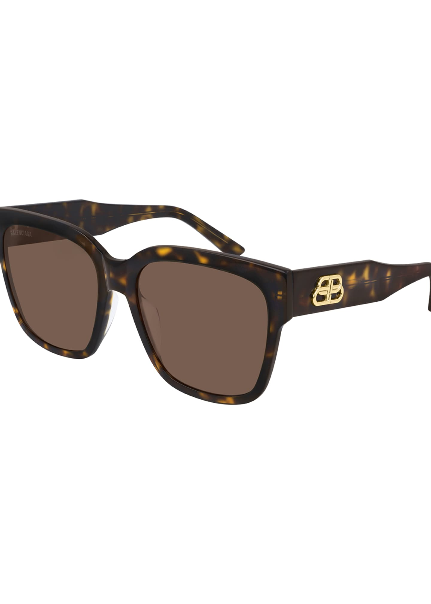 Balenciaga Square Acetate Sunglasses with BB Temple