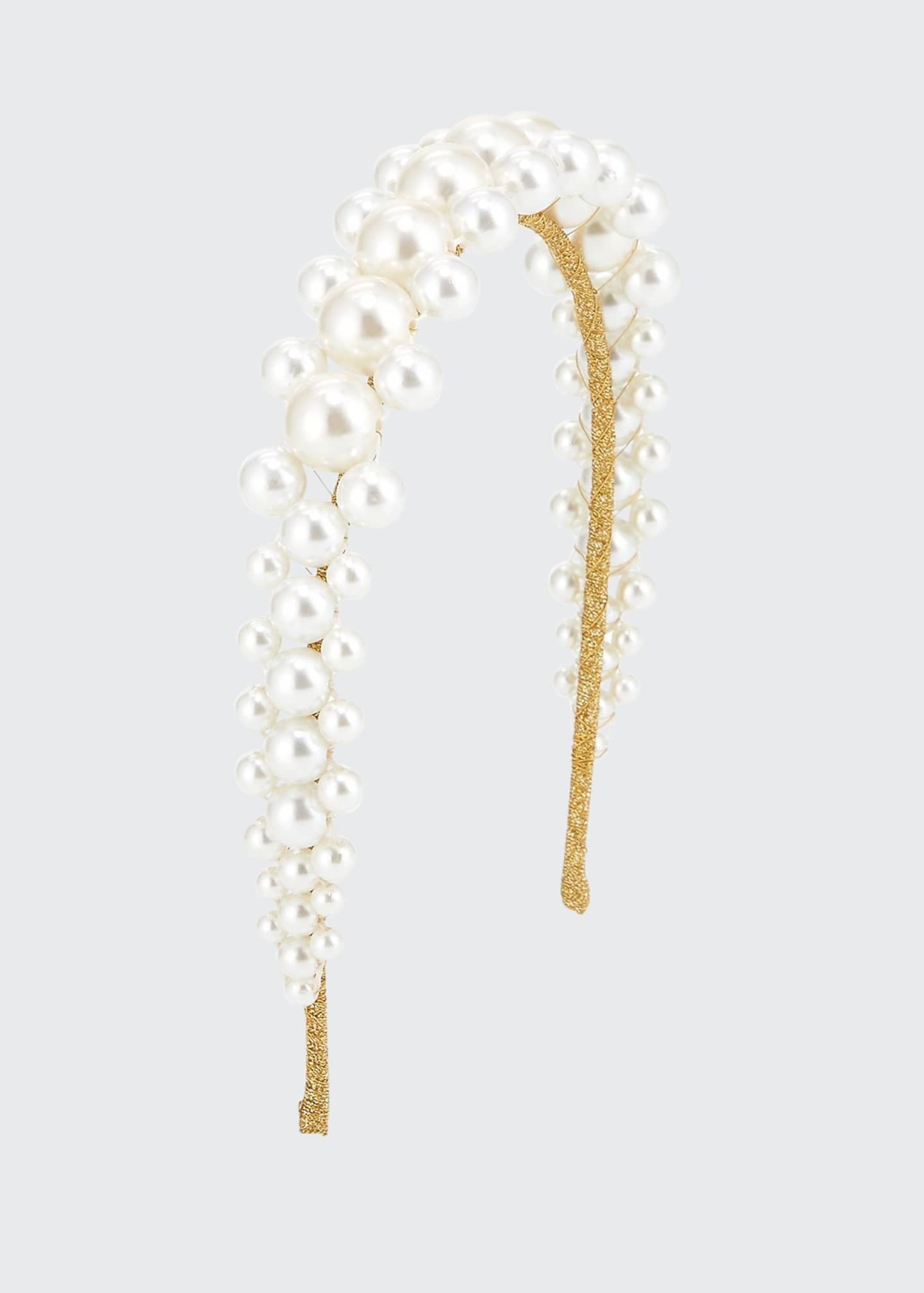 Jennifer Behr Zayna Pearly Beaded Headband