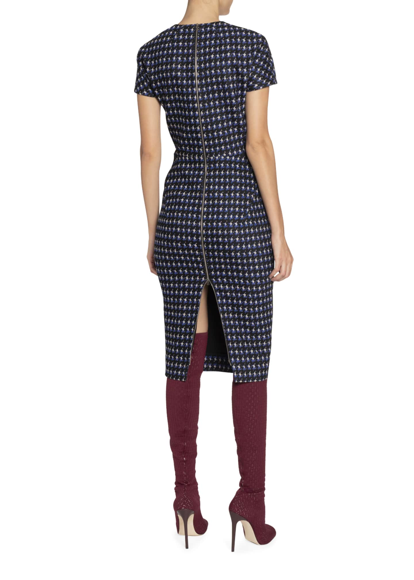 Image 2 of 2: Houndstooth Jacquard T-Shirt Dress