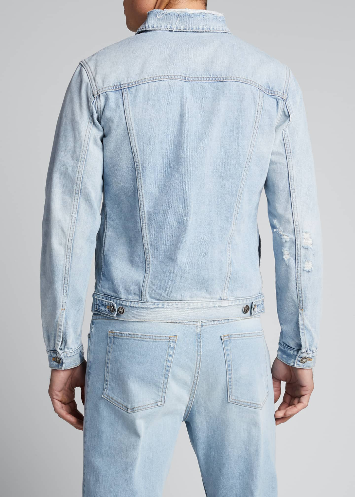 Image 2 of 4: Men's Classic-Fit Distressed Denim Jacket