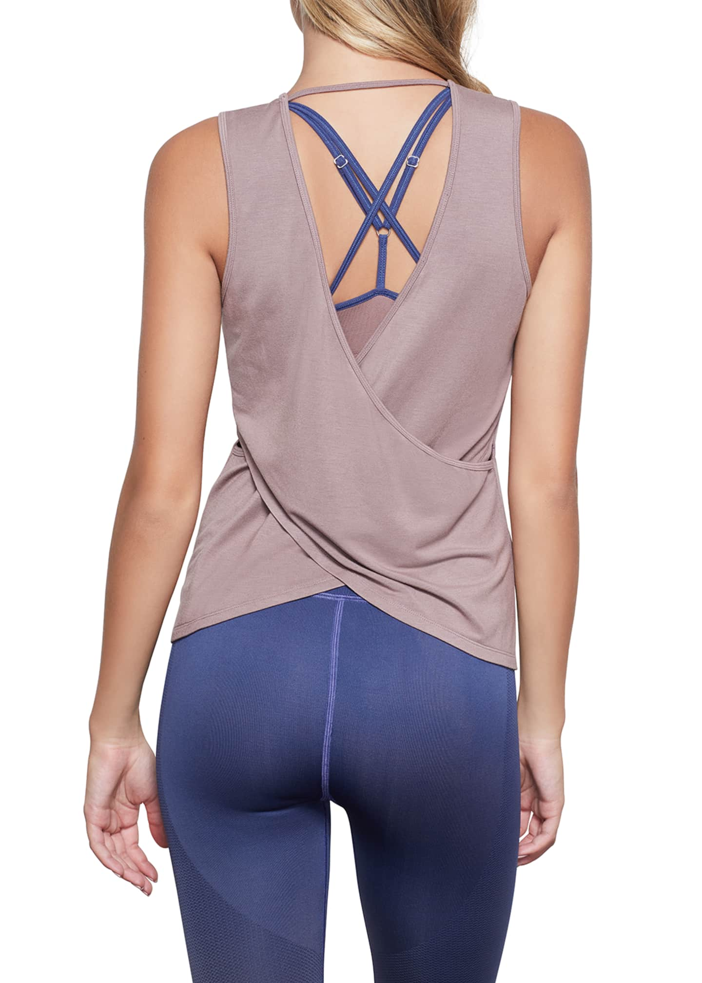 Image 2 of 4: Sheer Cross Back Tank - Inclusive Sizing