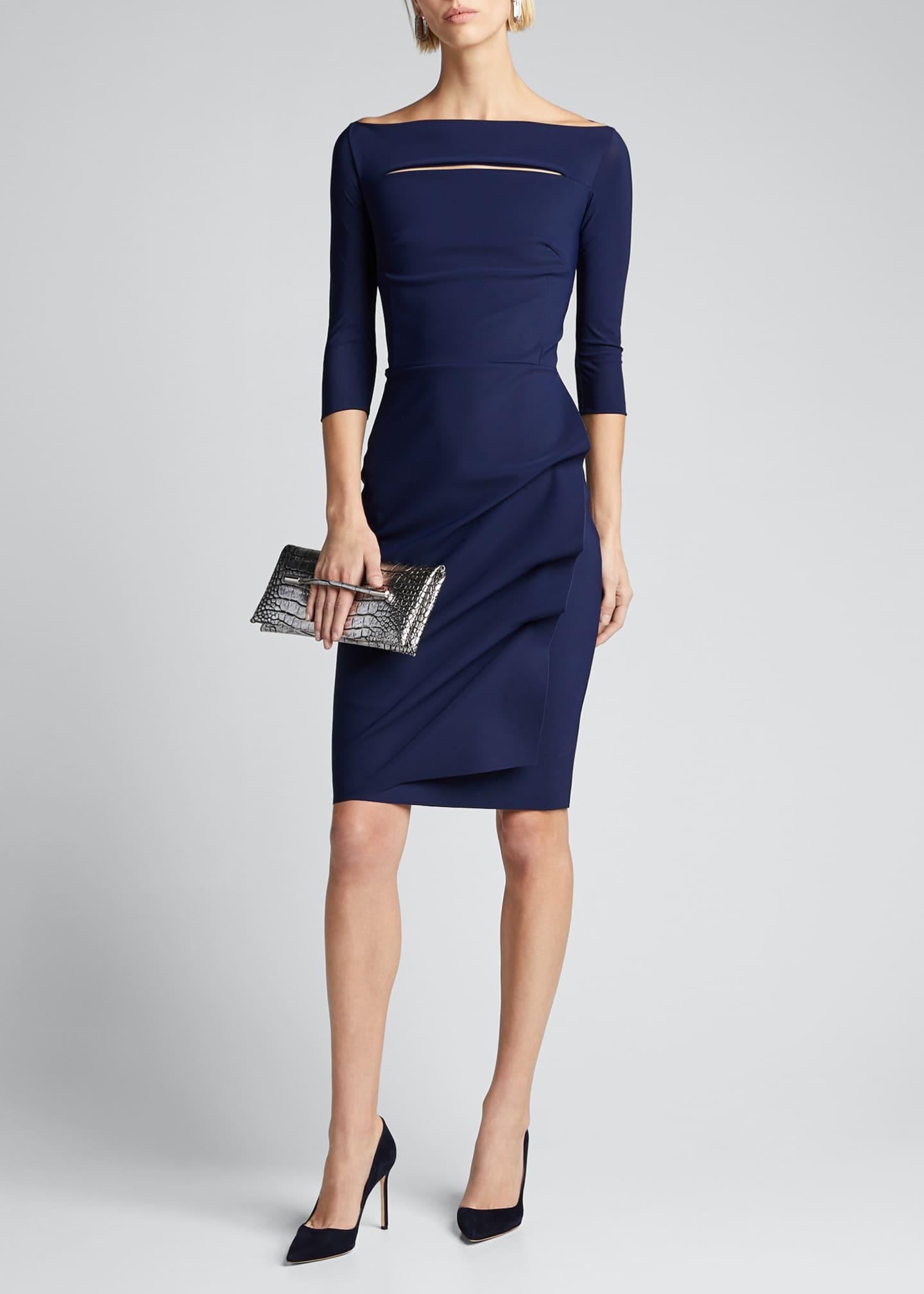 Chiara Boni La Petite Robe Melania Off-the-Shoulder 3/4-Sleeve