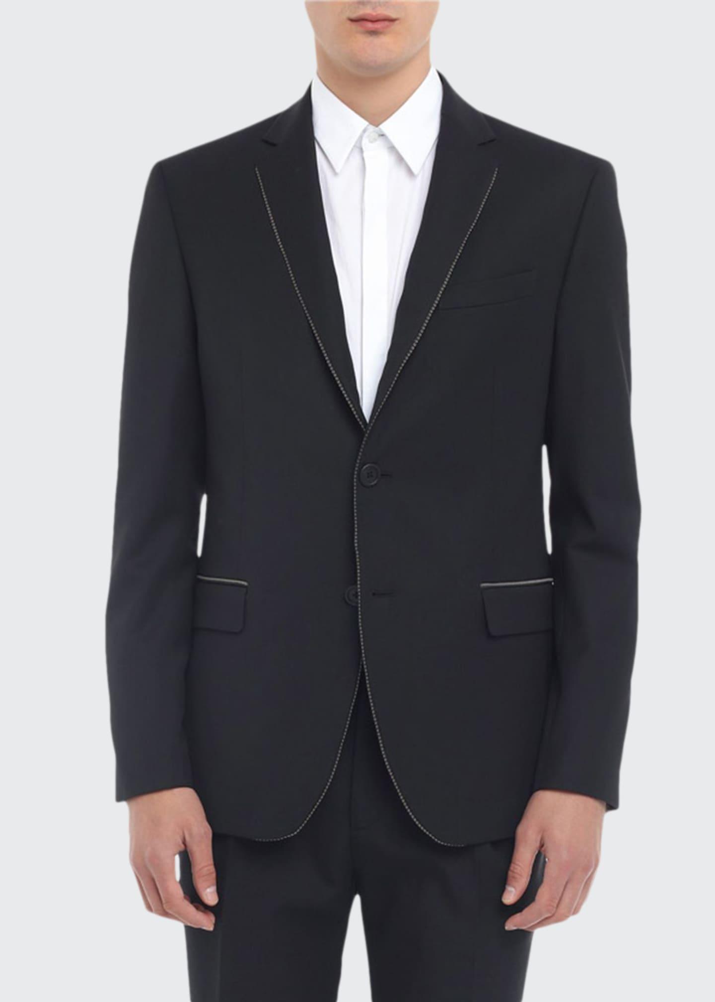 Fendi Men's Multi-Piping Two-Button Jacket