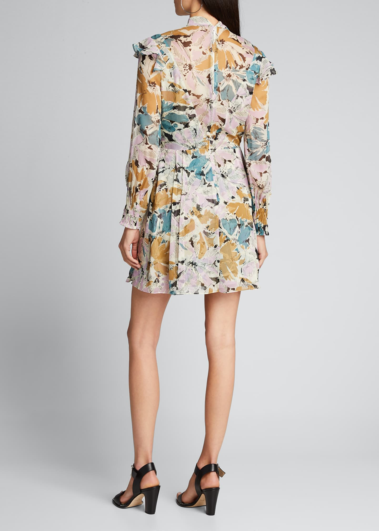 Image 2 of 5: Elinor Floral-Print High-Neck Dress