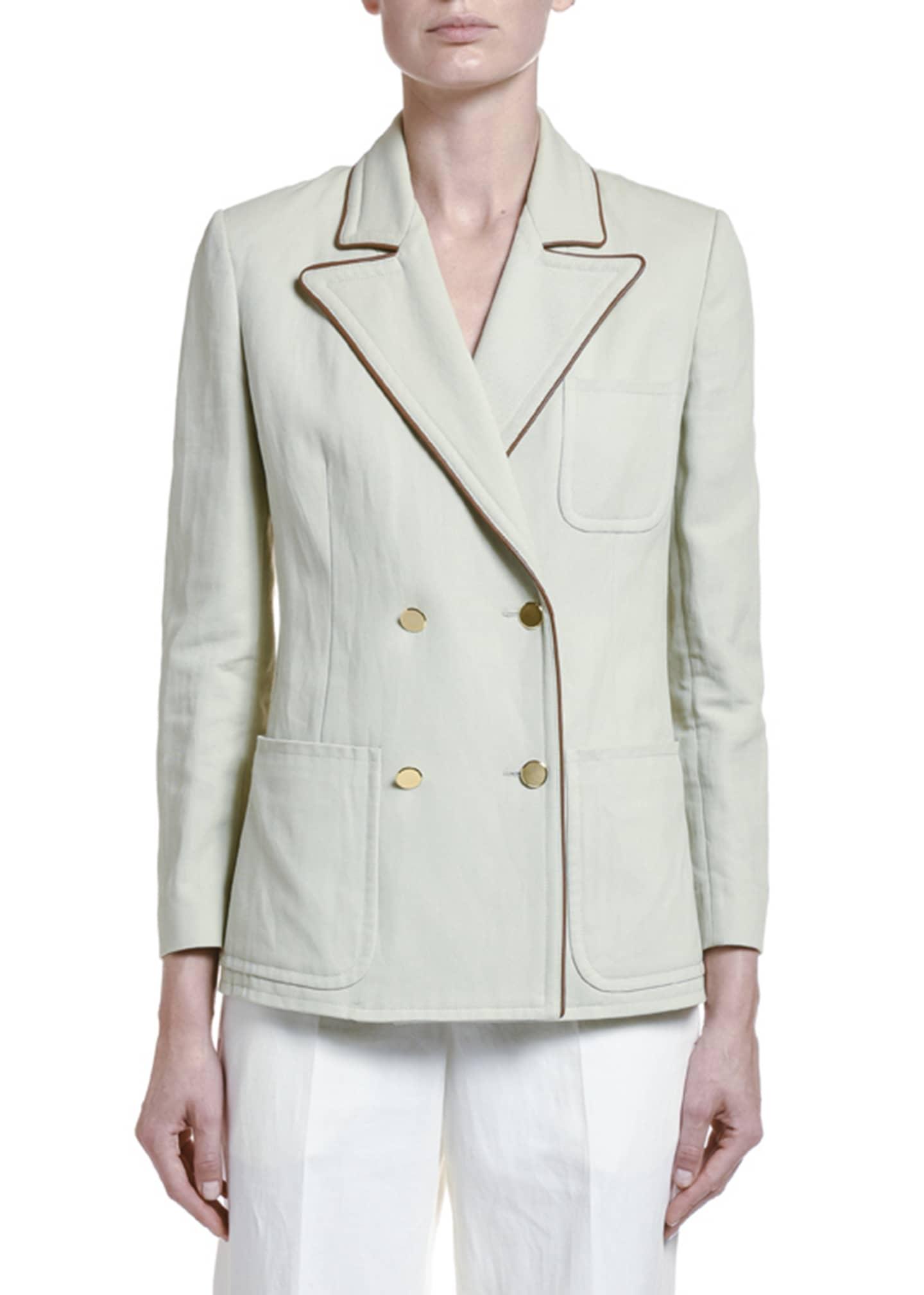 Giorgio Armani Cotton-Twill Double-Breasted Jacket