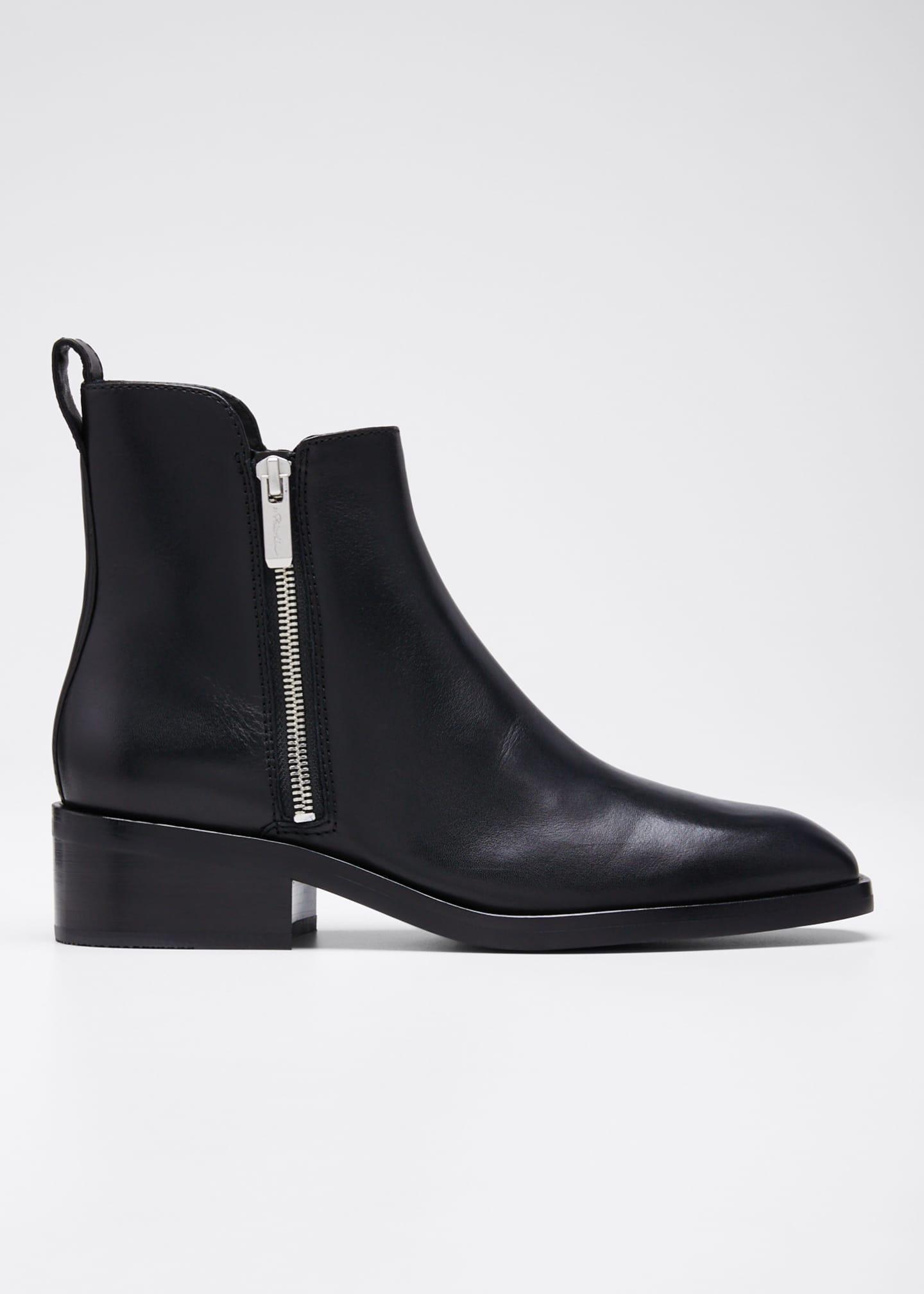 3.1 Phillip Lim Alexa Leather Zip Booties