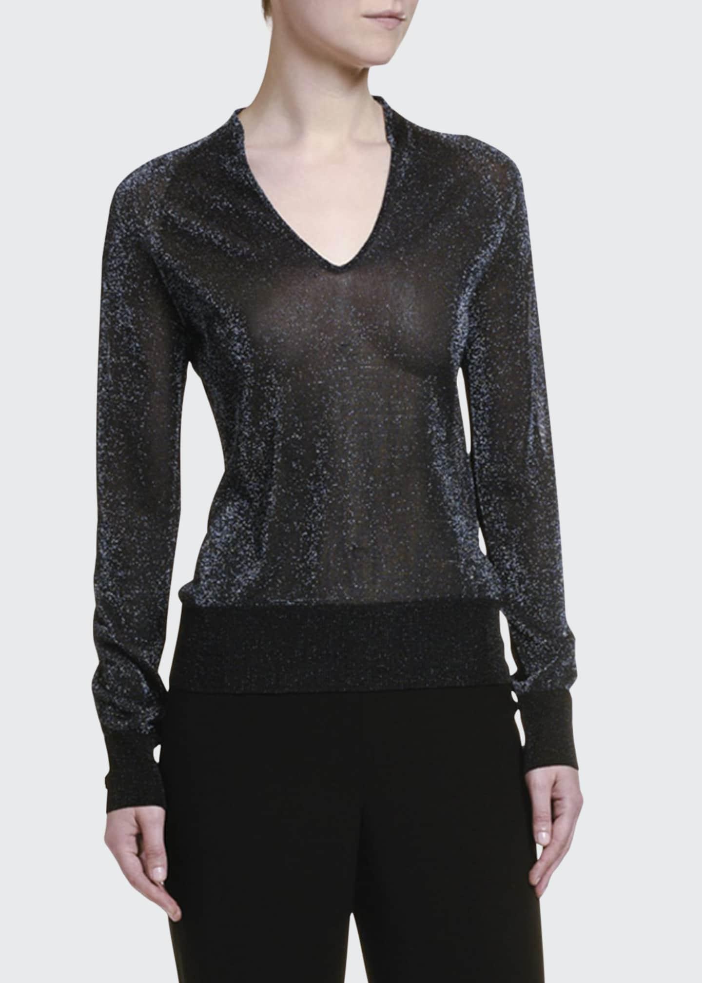 Giorgio Armani Shimmered V-Neck Sweater