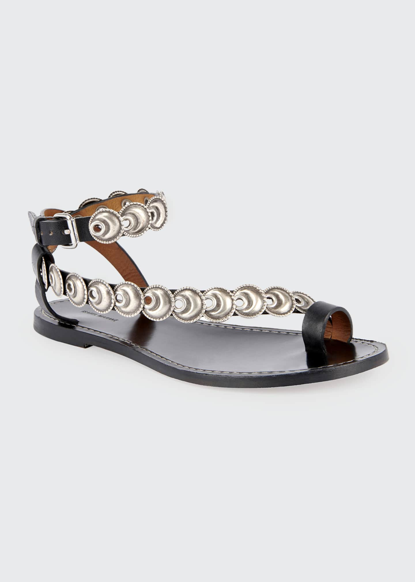 Image 2 of 4: Ermony Flat Metal Sandals