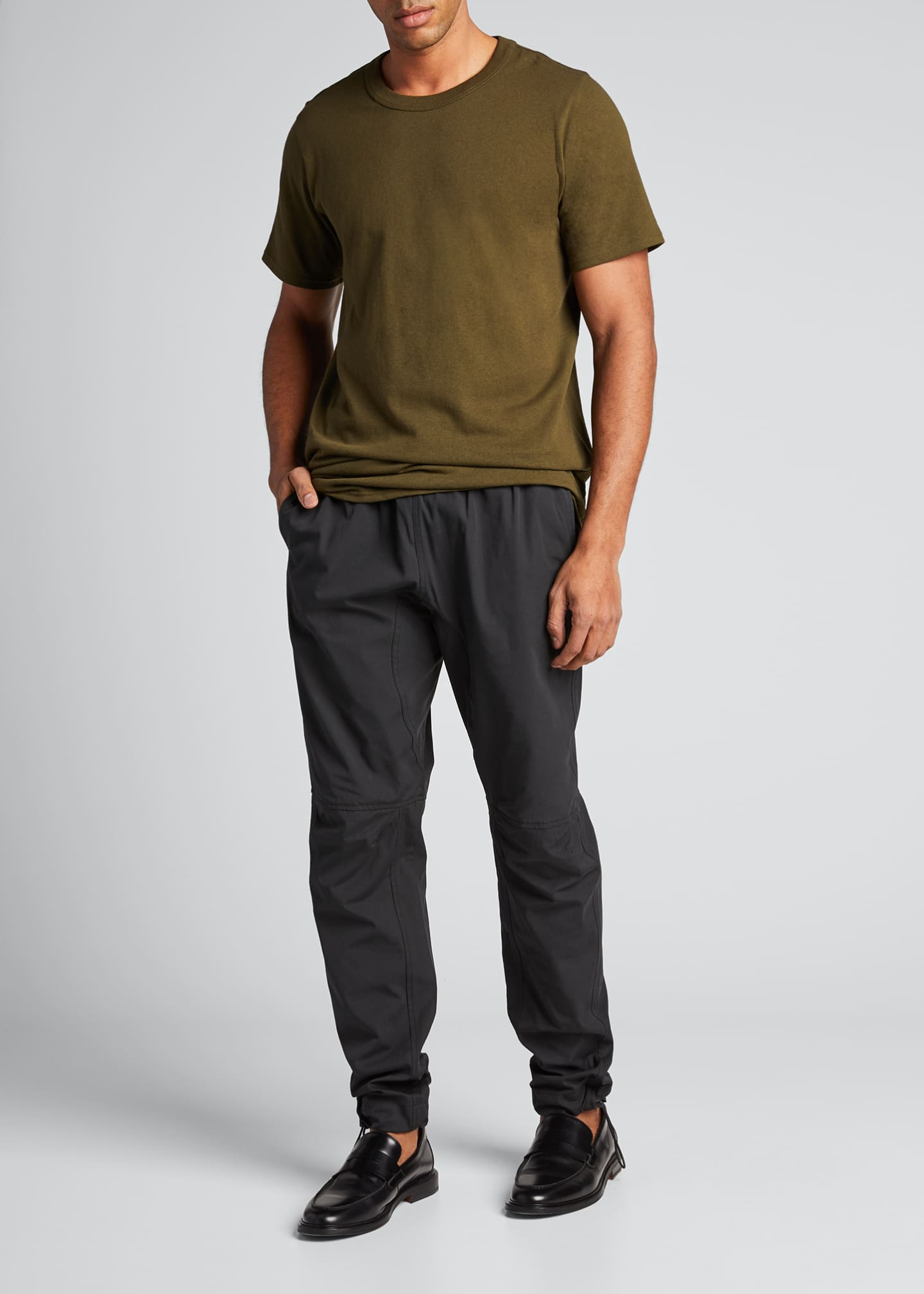 Image 1 of 5: Men's Solid Lightweight Crewneck Tee