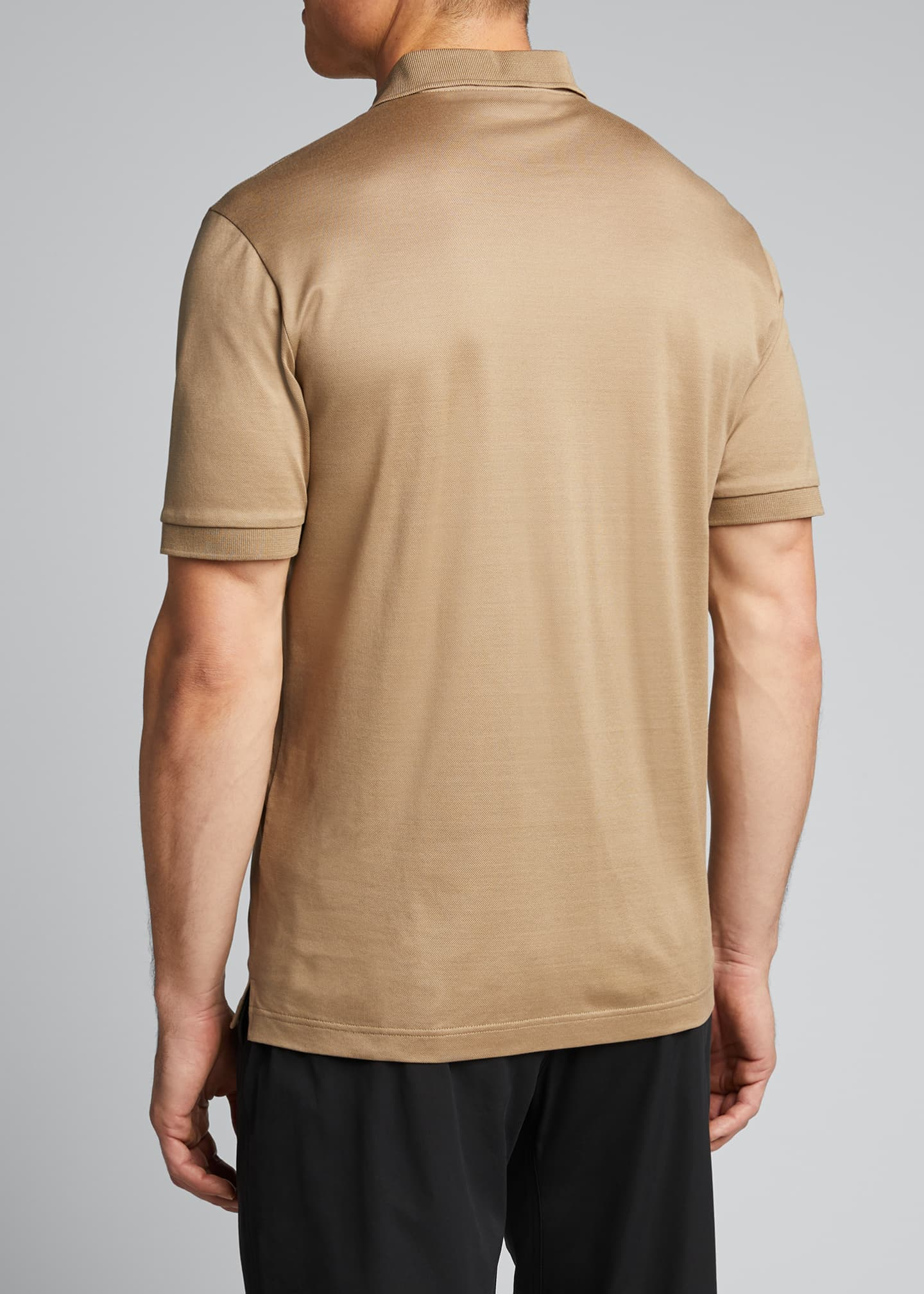 Image 2 of 5: Men's Solid Pique Polo Shirt