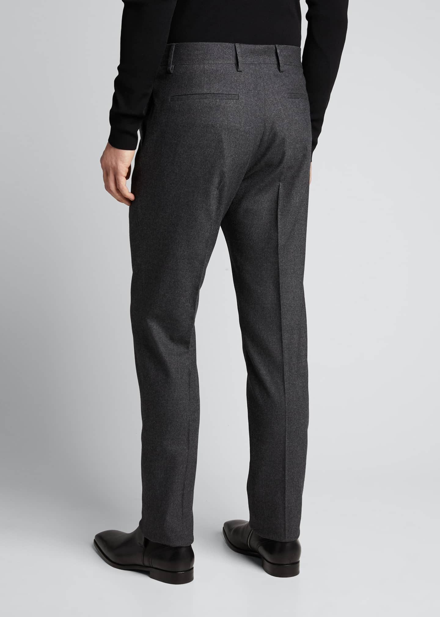 Image 2 of 5: Men's Classic Cashmere-Blend Straight-Leg Pants