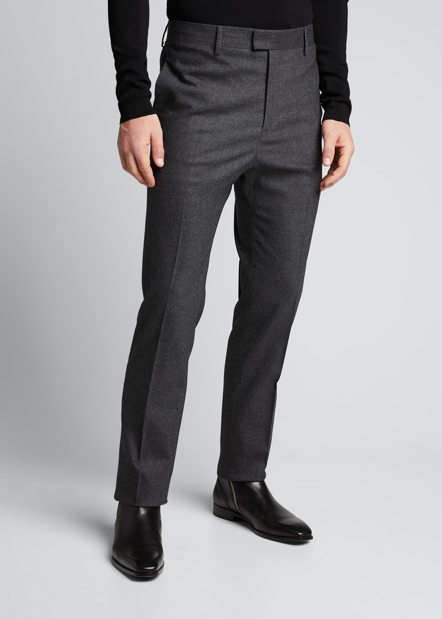 Image 3 of 5: Men's Classic Cashmere-Blend Straight-Leg Pants