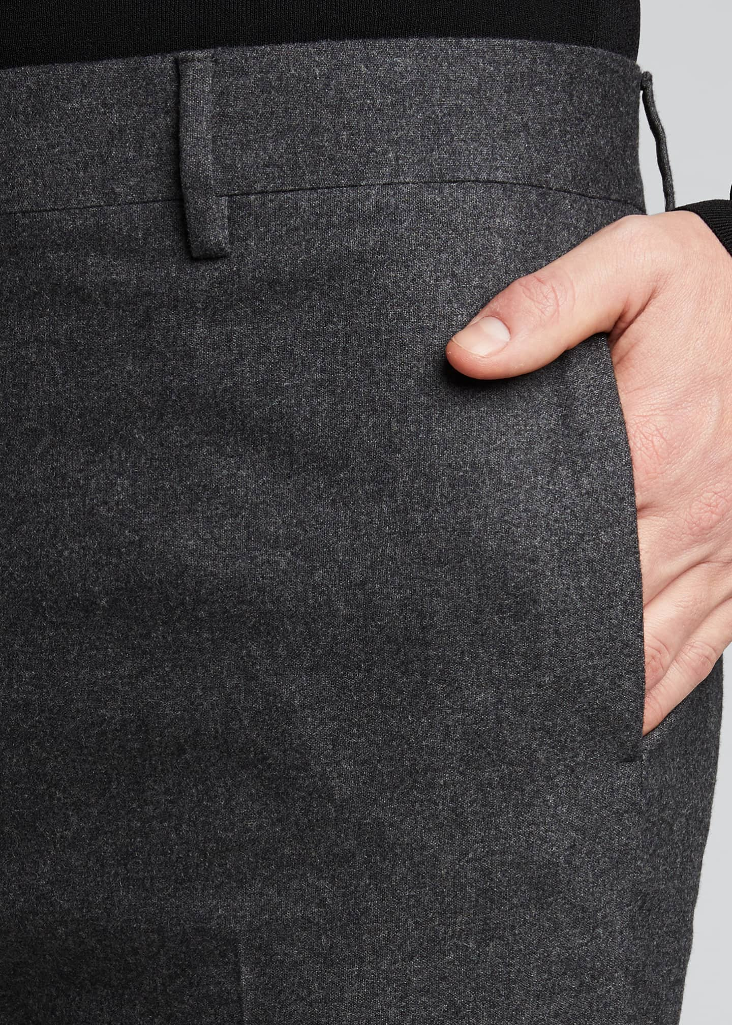 Image 4 of 5: Men's Classic Cashmere-Blend Straight-Leg Pants