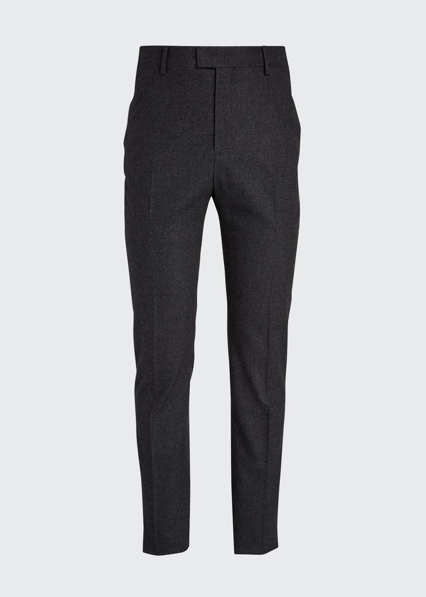 Image 5 of 5: Men's Classic Cashmere-Blend Straight-Leg Pants