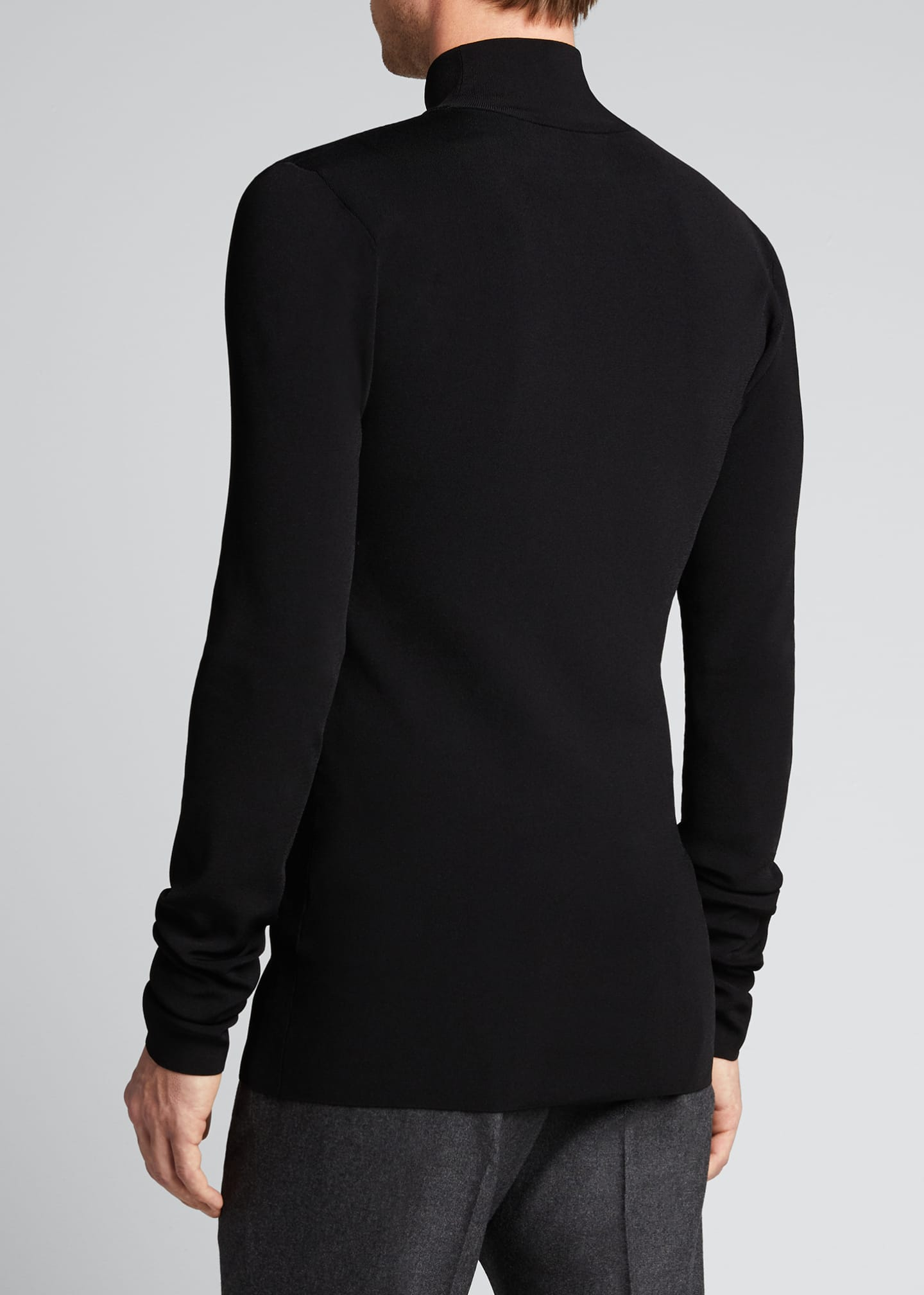 Image 2 of 5: Men's Tech-Knit Turtleneck Sweater