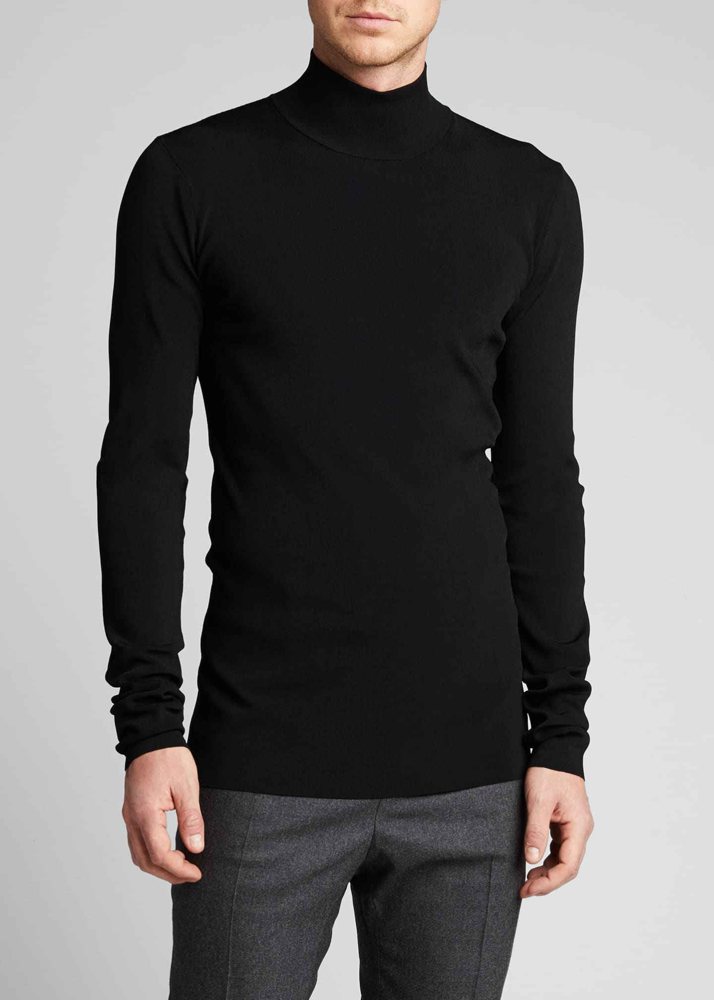 Image 3 of 5: Men's Tech-Knit Turtleneck Sweater