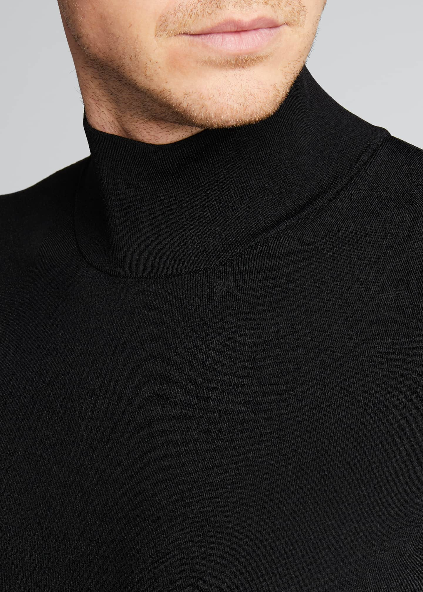 Image 4 of 5: Men's Tech-Knit Turtleneck Sweater