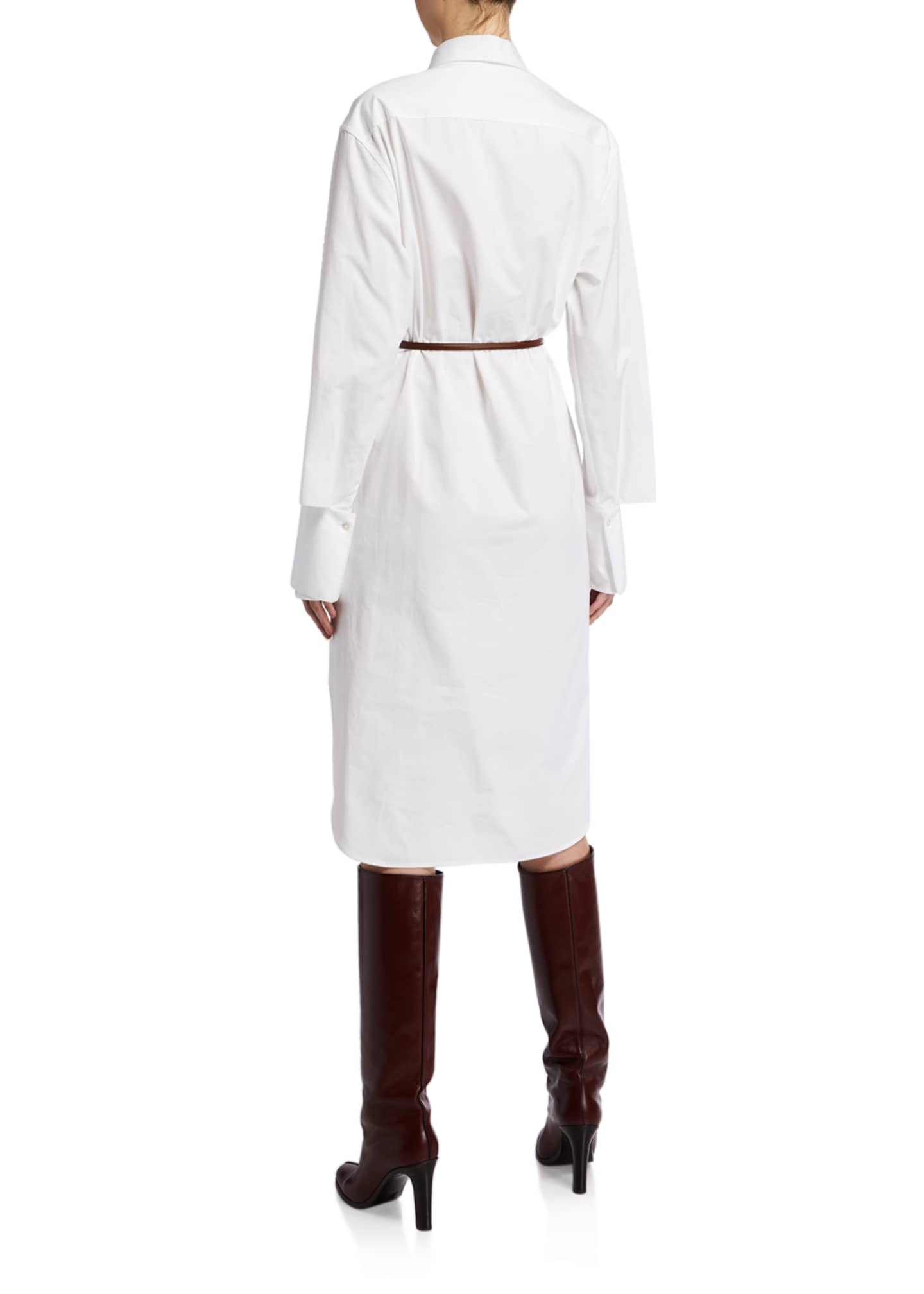 Image 2 of 2: Sonia Long-Sleeve Cotton Shirtdress