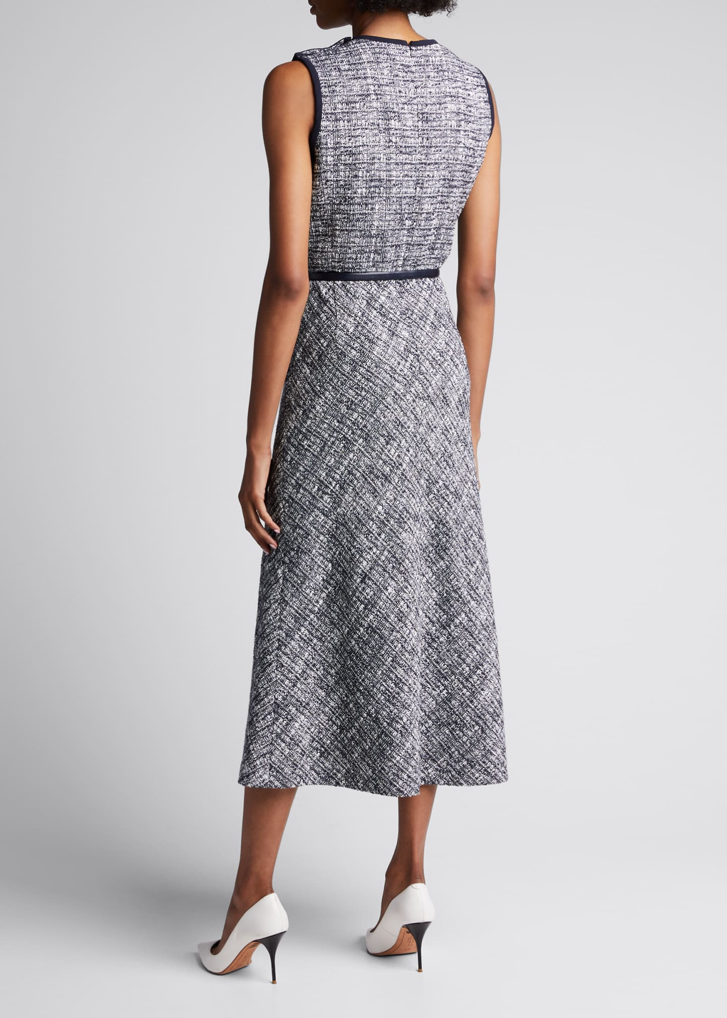 Image 2 of 5: Spadino Sleeveless Tweed Dress