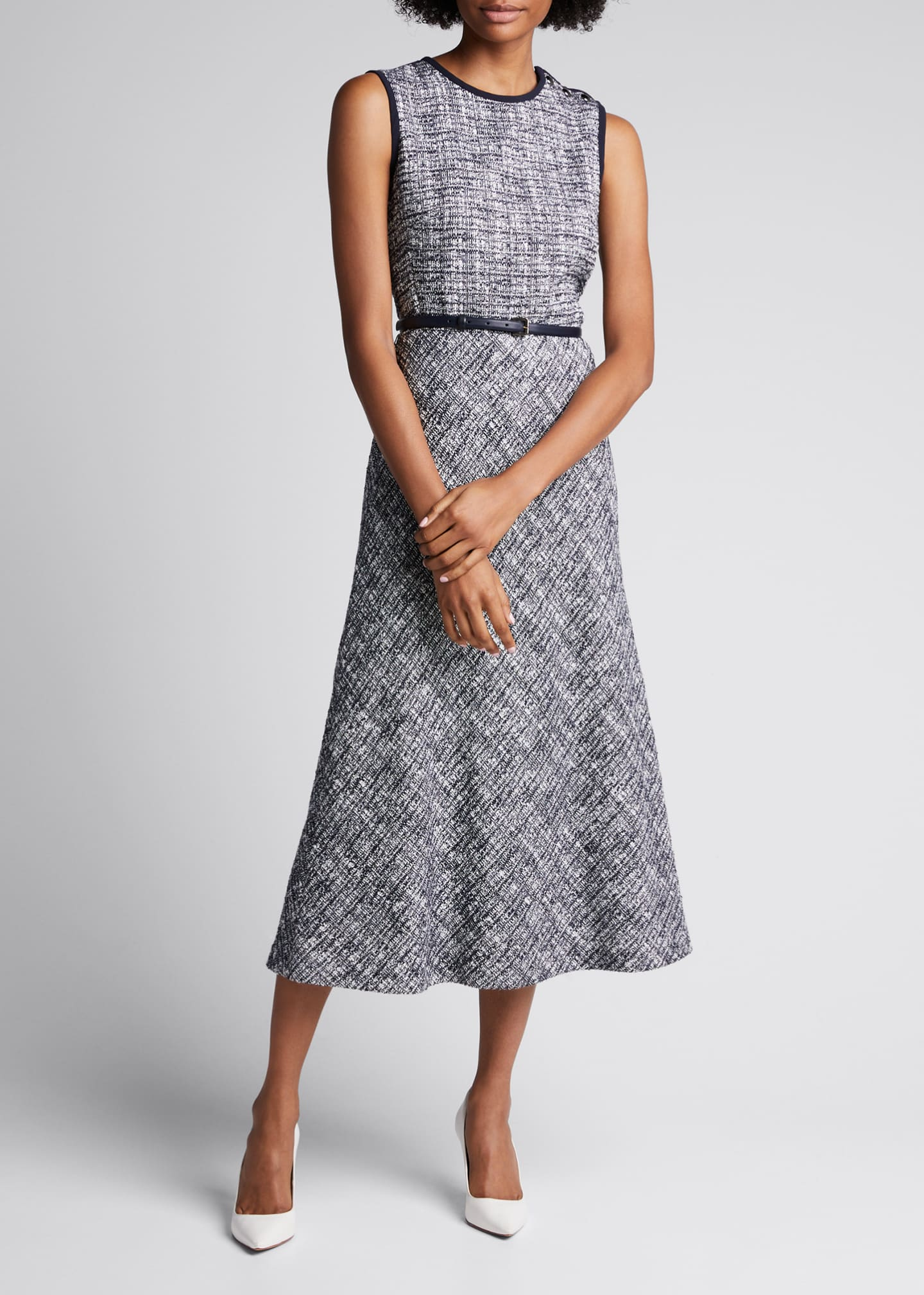 Image 3 of 5: Spadino Sleeveless Tweed Dress
