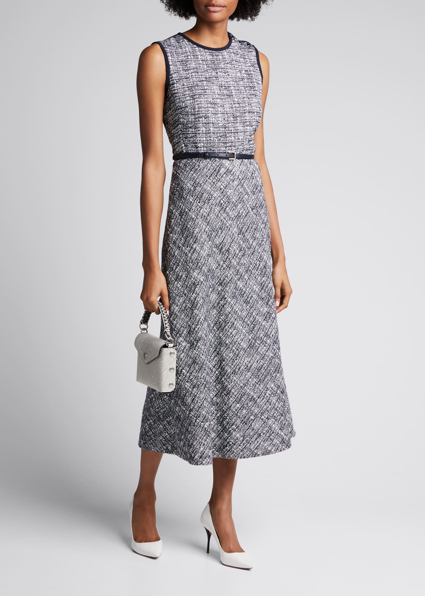 Image 1 of 5: Spadino Sleeveless Tweed Dress