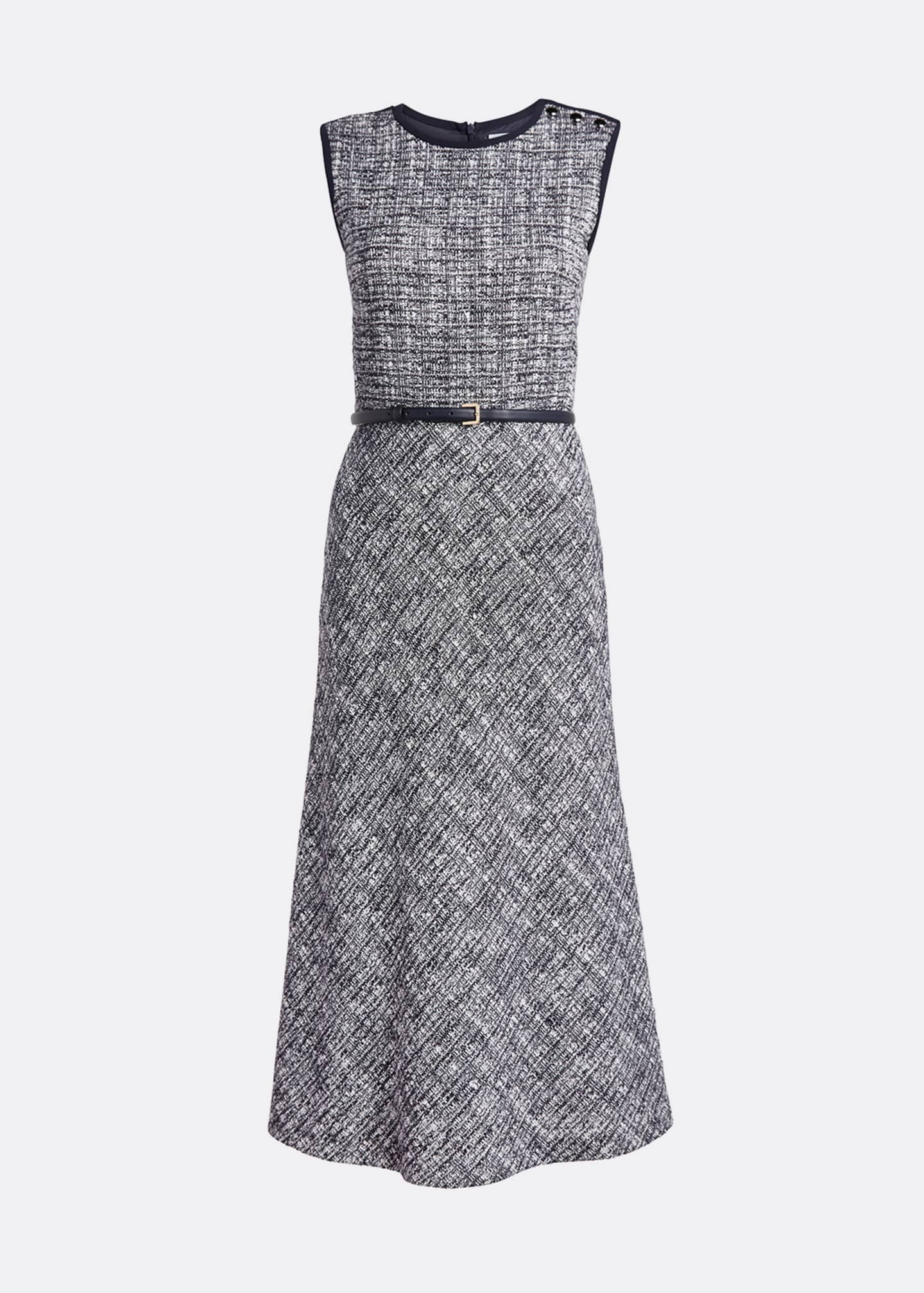 Image 5 of 5: Spadino Sleeveless Tweed Dress