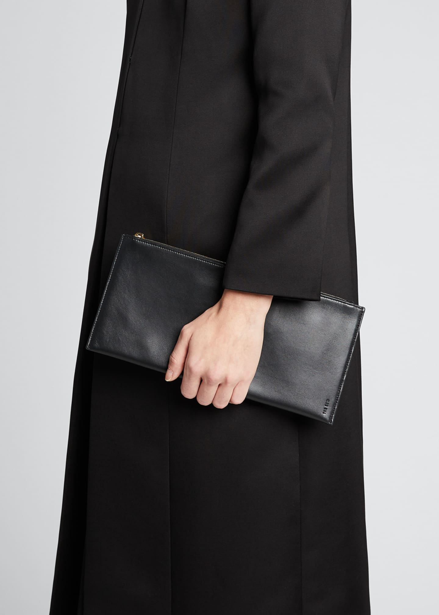 Image 2 of 5: Flat Clutch Bag in Shiny Calfskin