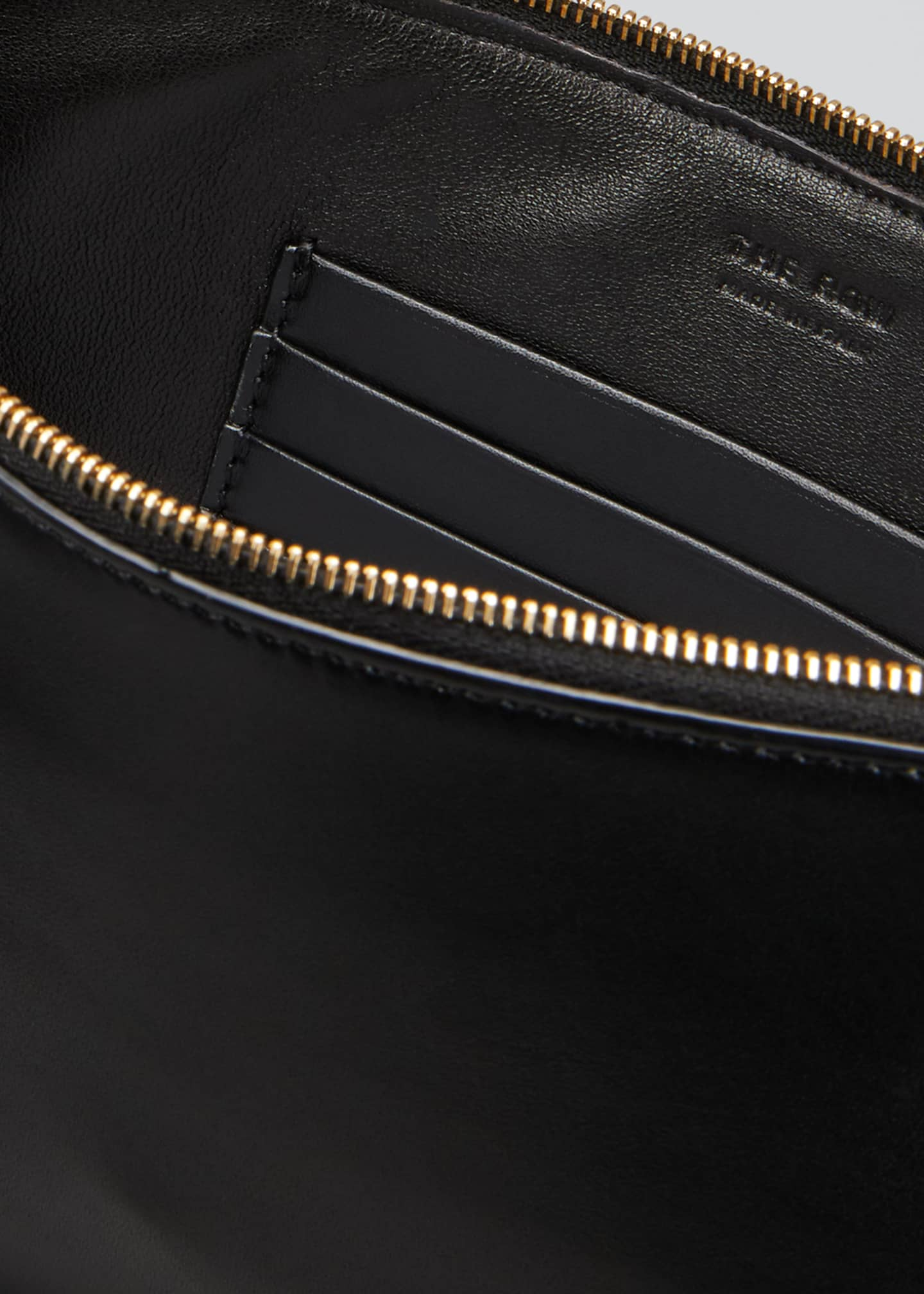 Image 4 of 5: Flat Clutch Bag in Shiny Calfskin
