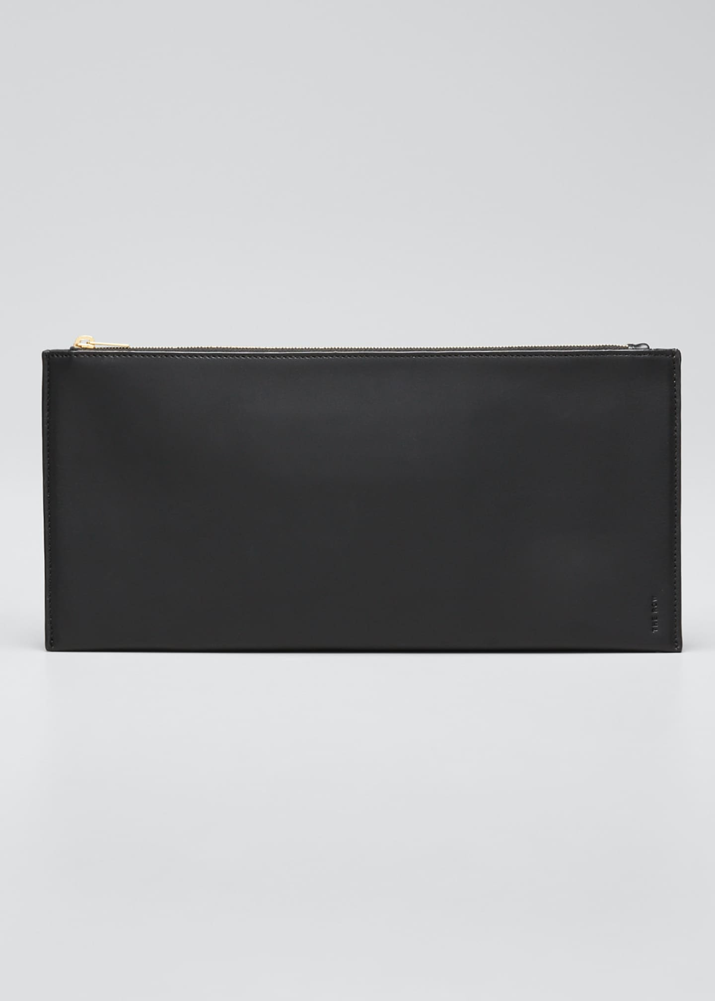 Image 1 of 5: Flat Clutch Bag in Shiny Calfskin