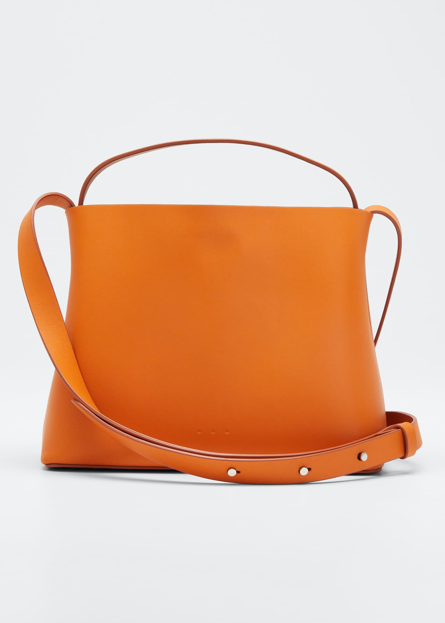Aesther Ekme Leather Mini Sac Crossbody Bag, Orange