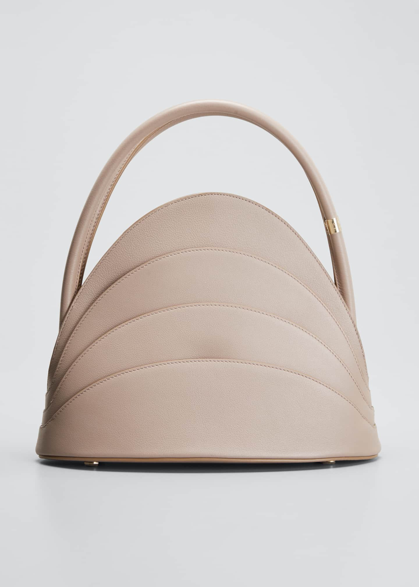 Image 1 of 5: Millefoglie Leather Top-Handle Bag